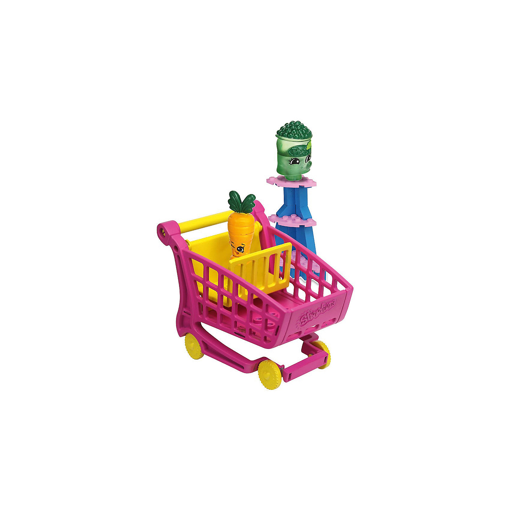 Конструктор «Магазин» Freezy Peazy и Дикая Морковь, ShopkinsПластмассовые конструкторы<br>Маленьких любителей конструкторов и мультфильма Shopkins приведет в восторг этот набор - с помощью него можно придумывать множество сюжетов игр с обожаемыми героями. Набор состоит из 37 деталей, из них можно сконструировать тележку для покупок. Также в нем есть <br>2 мини-фигурки, они разбираются и состоят из трех частей. Этот комплект ребенок может использовать в наборе с другими конструкторами от Shopkins Kinstructions от The Bridge Direct и Lego. Конструктор дополнен специальными наклейками, с помощью которых постройки можно украшать! Набор сделан из высококачественных материалов в соответствии со стандартами безопасности.<br><br>Дополнительная информация:<br><br>цвет: разноцветный;<br>материал: пластик;<br>деталей: 37 шт;<br>фигурок: 2 шт.<br><br>Конструктор «Магазин» Freezy Peazy и Дикая Морковь, Shopkins можно купить в нашем магазине.<br><br>Ширина мм: 38<br>Глубина мм: 127<br>Высота мм: 178<br>Вес г: 180<br>Возраст от месяцев: 72<br>Возраст до месяцев: 120<br>Пол: Женский<br>Возраст: Детский<br>SKU: 4924449