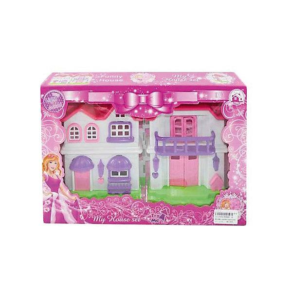 Дом со светом и музыкой, Shantou GepaiДомики для кукол<br>Дом со светом и музыкой, Shantou Gepai привнесет много нового в сюжетно-ролевые игры с куклами. В этом пластиковом загородном домике имеется все необходимое для комфортного проживания: шкаф, трюмо, кровать, установка с телевизором, два кресла и диван, ванна, кухонная установка с холодильником, стол и четыре стула. Главная дверь домика открывается и раздается мелодия, зажигаются огоньки, приглашая своих жильцов домой. Играя с куклами дети познают человека, как с физиологической, так и с стороны общения между людьми, развивается моторика рук, внимание, воображение, такие игры положительно влияют на психологическое развитие. Такой домик станет отличным подарком для детей.<br><br>Дополнительная информация:<br><br>- В комплект входит: домик, шкаф, трюмо, кровать, установка с телевизором, два кресла и диван, ванна, кухонная установка с холодильником, стол и четыре стула.<br>- Материал: пластик<br>- Размер с упаковкой: 23,5 * 34 * 6,5 см.<br>- Вес 0,52 кг.<br>- Элементы питания в комплекте<br><br>Дом со светом и музыкой, Shantou Gepai можно купить в нашем интернет-магазине.<br><br>Подробнее:<br>• Для детей в возрасте: от 3 до 10 лет<br>• Номер товара: 4925494<br>Страна производитель: Китай<br><br>Ширина мм: 340<br>Глубина мм: 65<br>Высота мм: 235<br>Вес г: 999<br>Возраст от месяцев: 36<br>Возраст до месяцев: 120<br>Пол: Женский<br>Возраст: Детский<br>SKU: 4925494