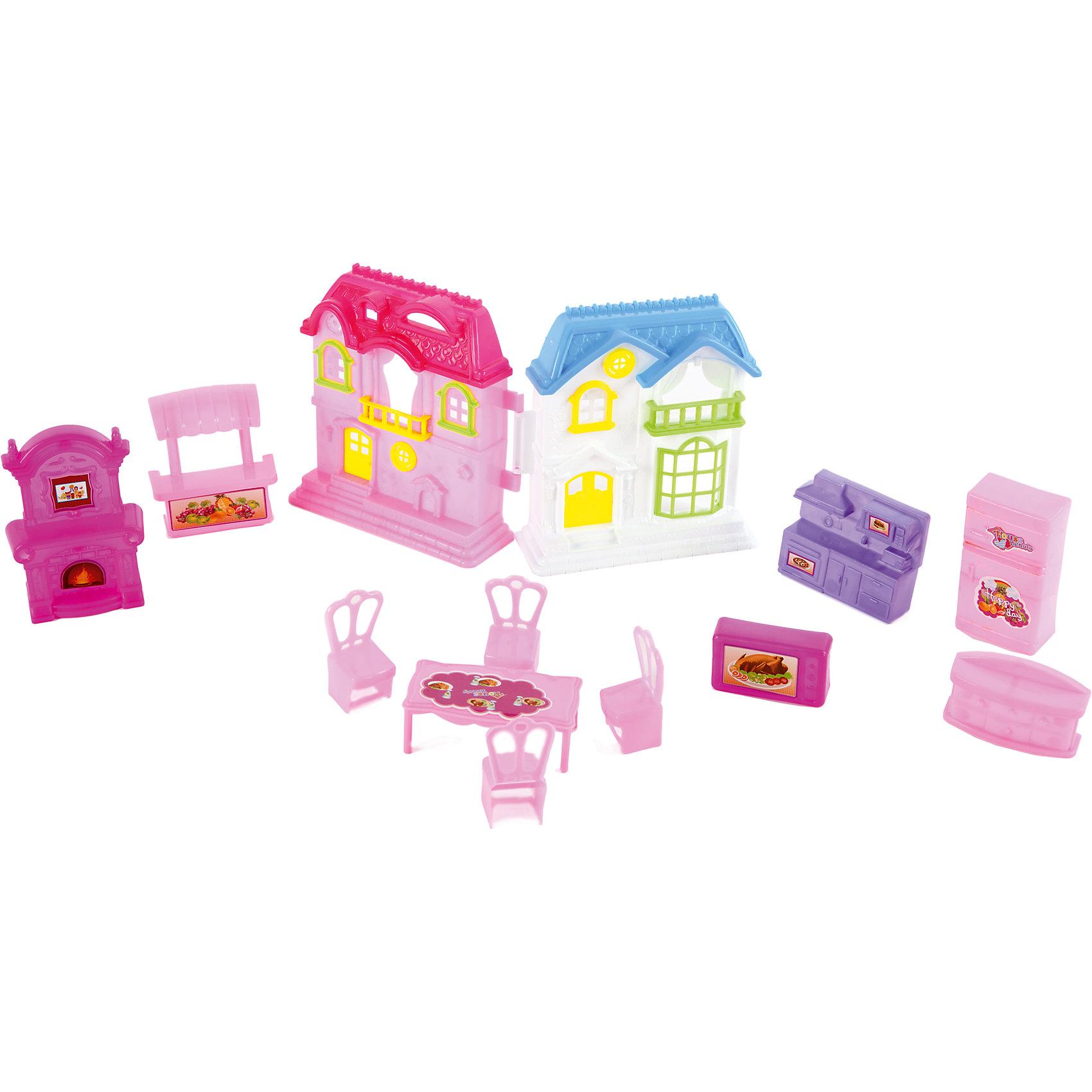 Домик с мебелью для кукол 10 см, Shantou GepaiИгрушечные домики и замки<br>Домик с мебелью для кукол 10 см, Shantou Gepai привнесет много нового в сюжетно-ролевые игры с куклами. В этом пластиковом домике имеется все необходимое для комфортного проживания: пианино, часы, комод, установка с телевизором, два кресла и диван, холодильник. Главная дверь домика открывается приглашая своих жильцов домой. Играя с куклами дети познают человека, как с физиологической, так и с стороны общения между людьми, развивается моторика рук, внимание, воображение, такие игры положительно влияют на психологическое развитие. Такой домик станет отличным подарком для детей.<br><br>Дополнительная информация:<br><br>- В комплект входит: домик – две детали, пианино, часы, комод, установка с телевизором, два кресла и диван, холодильник <br>- Материал: пластик<br>- Размер с упаковкой: 42 * 25,5 * 5,5 см.<br>- Вес 0,44 кг.<br><br>Домик с мебелью для кукол 10 см, Shantou Gepai можно купить в нашем интернет-магазине.<br><br>Подробнее:<br>• Для детей в возрасте: от 3 до 10 лет<br>• Номер товара: 4925495<br>Страна производитель: Китай<br><br>Ширина мм: 420<br>Глубина мм: 50<br>Высота мм: 260<br>Вес г: 91<br>Возраст от месяцев: 36<br>Возраст до месяцев: 120<br>Пол: Женский<br>Возраст: Детский<br>SKU: 4925495