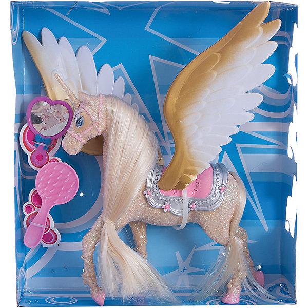 Единорог с крыльями, Shantou GepaiФигурки мифических существ<br>Единорог с крыльями, Shantou Gepai – это необычная игрушка. Единорог с крыльями, или по-другому называемый «аликорн», по легендам доброе и волшебное существо. Шикарная грива и аксессуары по уходу придут по вкусу ребенку и он захочет играть с этим золотым единорогом снова и снова. В коллекции обычных лошадей и единорогов, крылатый единорог станет самой главной фигурой. Играя с таким набором ребенок развивает моторику ручек и развивает воображение.<br><br>Дополнительная информация:<br><br>- В комплект входит: единорог с крыльями, расческа, зеркальце<br>- Материал: пластик<br>- Размер с упаковкой: 27 * 6 см<br><br>Единорога с крыльями, Shantou Gepai можно купить в нашем интернет-магазине.<br><br>Подробнее:<br>• Для детей в возрасте: от 3 до 9 лет<br>• Номер товара: 4925501<br>Страна производитель: Китай<br><br>Ширина мм: 270<br>Глубина мм: 80<br>Высота мм: 290<br>Вес г: 447<br>Возраст от месяцев: 36<br>Возраст до месяцев: 108<br>Пол: Унисекс<br>Возраст: Детский<br>SKU: 4925501