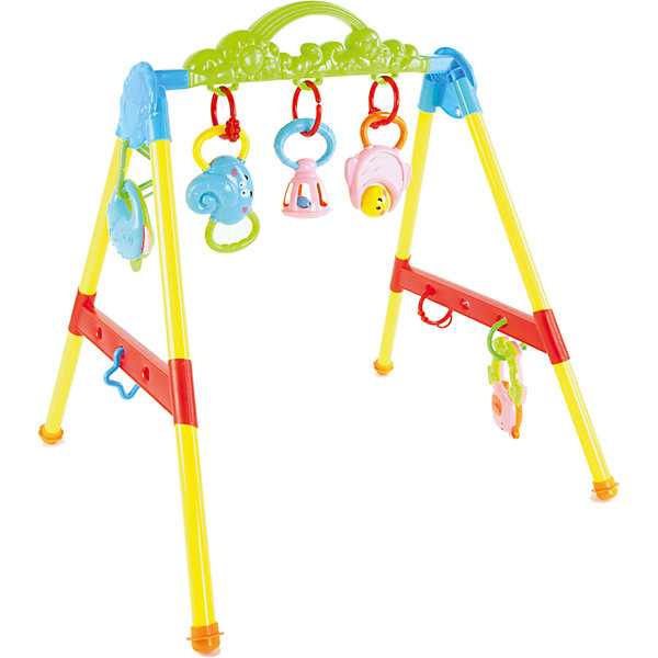 Игровой комплекс Малыш-2, Shantou GepaiРазвивающие центры<br>Игровой комплекс Малыш-2, Shantou Gepai – это веселый модуль-игрушка, с которым так весело играть и развиваться! Модуль ставится на плоскую поверхность и к нему прикрепляются игрушки-подвески. С этим модулем можно играть как лежа, так и сидя, а когда придет время, с ним можно и научиться стоять и играть. Яркие цвета модуля придут малышу по вкусу и помогут ему развить цветовосприятие, а текстурные игрушки и погремушки поспособствуют развитию звукового и тактильного восприятия.<br>Дополнительная информация:<br><br>- В комплект входит: 1 игровой комплекс, игрушки-подвески<br>- Материал: АБС пластик<br>- Размер: 50 * 8,5 * 23,5 см<br><br>Игровой комплекс Малыш-2, Shantou Gepai можно купить в нашем интернет-магазине.<br><br>Подробнее:<br>• Для детей в возрасте: от 3 месяцев до 3 лет<br>• Номер товара: 4925504<br>Страна производитель: Китай<br><br>Ширина мм: 500<br>Глубина мм: 85<br>Высота мм: 235<br>Вес г: 2406<br>Возраст от месяцев: 3<br>Возраст до месяцев: 36<br>Пол: Унисекс<br>Возраст: Детский<br>SKU: 4925504