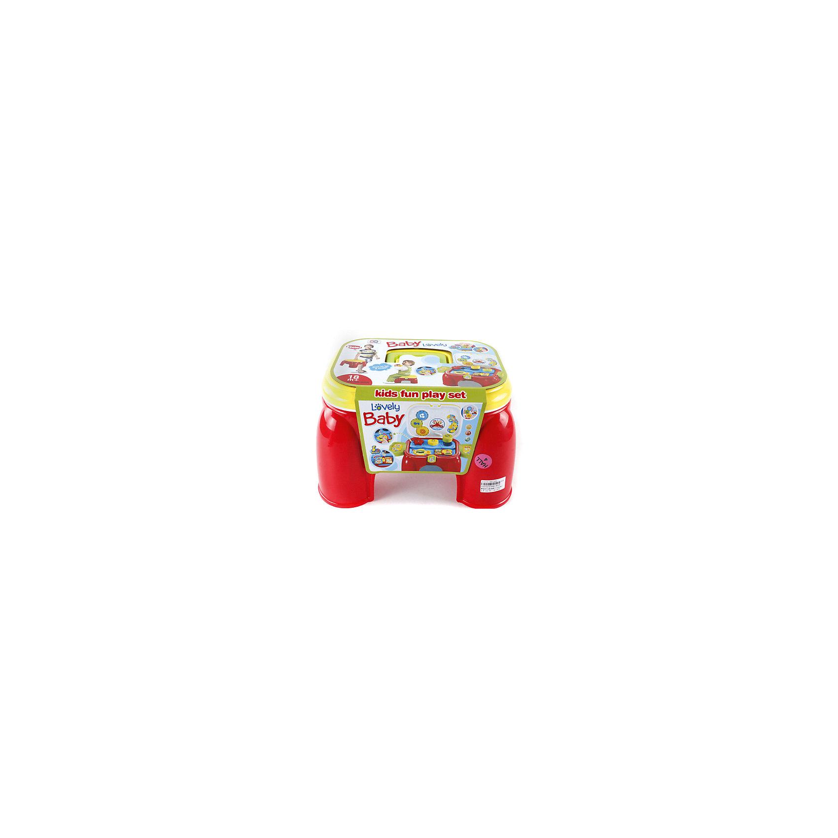 Игровой центр Стульчик-чемодан, Shantou GepaiИгровой центр Стульчик-чемодан, Shantou Gepai – это веселый стульчик-игрушка, с которым так весело играть и развиваться! Стульчик легко переносить с места на место за удобную ручку вверху, а открывая крышку малышу предстанет целый набор веселых игрушек со световыми и звуковыми эффектами. Внутри чемоданчика имеется часовой механизм, показывая малышу что же такое время с помощью стрелок. Также имеется обучающие звуковые программы на английском языке. Дополнительно имеется крутящийся барабан, забавная рыбка со звуком развлечет малыша и он будет играть с чемоданчиком снова и снова! Функции чемоданчика помогут развить моторику рук, координацию движения, память, внимание и воображение.<br><br>Дополнительная информация:<br><br>- В комплект входит: 1 стульчик-чемодан<br>- Материал: АБС пластик<br><br>Игровой центр Стульчик-чемодан,Shantou Gepai можно купить в нашем интернет-магазине.<br><br>Подробнее:<br>• Для детей в возрасте: от 18 месяцев до 3 лет<br>• Номер товара: 4925508<br>Страна производитель: Китай<br><br>Ширина мм: 320<br>Глубина мм: 265<br>Высота мм: 200<br>Вес г: 2194<br>Возраст от месяцев: 0<br>Возраст до месяцев: 36<br>Пол: Унисекс<br>Возраст: Детский<br>SKU: 4925508