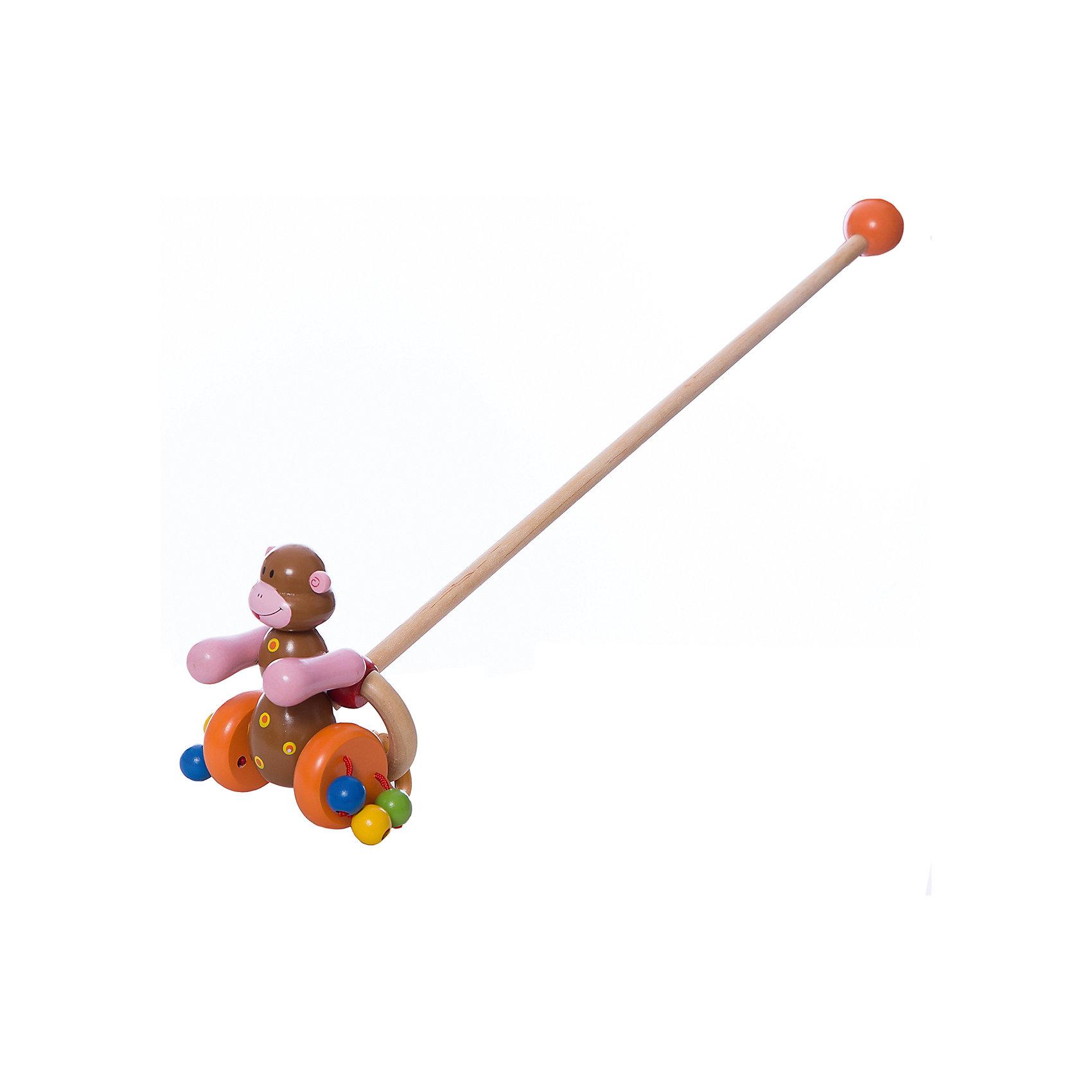 Каталка Мартышка с колечком, MapachaКаталка Мартышка с колечком от популярного бренда развивающих детских товаров Mapacha (Мапача) развлечет вашу кроху! Эта яркая обезьянка привлечет внимание и с ней захочется ходить и бегать снова и снова. Ручки обезьянки двигаются при движении и создают звуки, яркие шарики на колесиках добавляют шума. Безопасная съемная ручка длиной 48 см. позволит играть с игрушкой без ручки при желании. Каталка изготовлена из экологически чистого и натурального материала – дерева. С этой каталкой малыш сможет развить навыки координации движения и навыки управления.<br><br>Дополнительная информация:<br><br>- В комплект входит: 1 каталка<br>- Материал: дерево<br>- Размер: 12 * 7 * 17,5 см<br><br>Каталку  Мартышка с колечком , Mapacha (Мапача) можно купить в нашем интернет-магазине.<br><br>Подробнее:<br>• Для детей в возрасте: от 3 лет<br>• Номер товара: 4925513<br>Страна производитель: Китай<br><br>Ширина мм: 150<br>Глубина мм: 50<br>Высота мм: 570<br>Вес г: 339<br>Возраст от месяцев: 12<br>Возраст до месяцев: 60<br>Пол: Унисекс<br>Возраст: Детский<br>SKU: 4925513