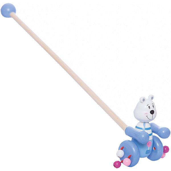 Каталка Мишаня, MapachaДеревянные игрушки<br>Каталка Мишаня от популярного бренда развивающих детских товаров Mapacha (Мапача) развлечет вашу кроху! Этот симпатичный белый мишка привлечет внимание и с ним захочется ходить и бегать снова и снова. Ручки мишки двигаются при движении и создают звуки, яркие шарики на колесиках добавляют шума. Безопасная съемная ручка длиной 48 см. позволит играть с игрушкой без ручки при желании. Каталка изготовлена из экологически чистого и натурального материала – дерева. С этой каталкой малыш сможет развить навыки координации движения и навыки управления.<br><br>Дополнительная информация:<br><br>- В комплект входит: 1 каталка<br>- Материал: дерево<br>- Размер: 12 * 7 * 17,5 см<br><br>Каталку Мишаня, Mapacha (Мапача) можно купить в нашем интернет-магазине.<br><br>Подробнее:<br>• Для детей в возрасте: от 3 лет<br>• Номер товара: 4925514<br>Страна производитель: Китай<br>Ширина мм: 150; Глубина мм: 50; Высота мм: 550; Вес г: 304; Возраст от месяцев: 12; Возраст до месяцев: 60; Пол: Унисекс; Возраст: Детский; SKU: 4925514;