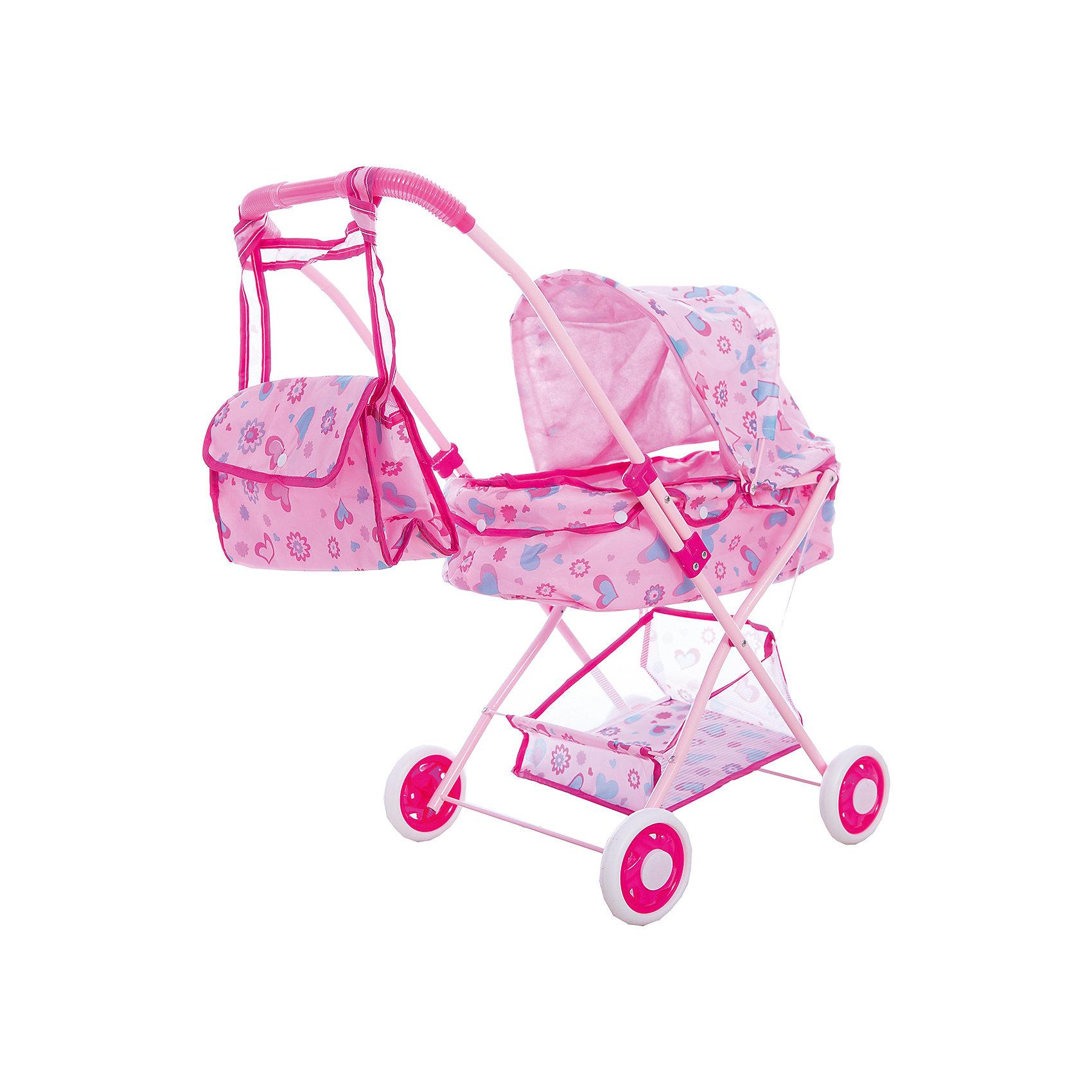 Коляска люлька с корзиной и сумкой, 36*56*58 см, Shantou GepaiКоляски и транспорт для кукол<br>Коляска люлька с корзиной и сумкой, 36*56*58 см, Shantou Gepai. Интересная 4-х колесная коляска со складным козырьком придет по вкусу куклам и их владелице. При желании коляска складывается для функционального  хранения. В составе каркаса коляски использован алюминий, что позволяет ребенку легко ее передвигать. Обширный козырек убережет пупсов от солнышка и небольшого дождика и, в дополнение, добавляет коляске реалистичности. Яркие цвета рисунков на розовом фоне понравятся ребенку, а при необходимости обивка коляски снимается. У этой модели имеется удобная корзина для мелочей и сумочка, которая вешается на ручку коляски. Теперь прогулки и игры с любимыми куклами будут еще увлекательнее. Каждая девочка хочет иметь коляску для своих дочек и катать их, эта коляска будет отличным подарком.<br> <br>Дополнительная информация:<br><br>- Материал: пластик, текстиль, металл<br>- Размер коляски: 36 * 56 * 58 см.<br>- Высота ручки 58 см.<br>Коляску люльку с корзиной и сумкой, 36*56*58 см, Shantou Gepai можно купить в нашем интернет-магазине.<br><br>Подробнее:<br>• Для детей в возрасте: от 3 до 6 лет<br>• Номер товара: 4925527<br>Страна производитель: Китай<br><br>Ширина мм: 350<br>Глубина мм: 100<br>Высота мм: 730<br>Вес г: 2083<br>Возраст от месяцев: 36<br>Возраст до месяцев: 120<br>Пол: Женский<br>Возраст: Детский<br>SKU: 4925527