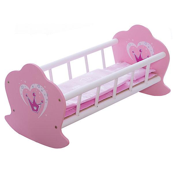Кроватка-люлька деревянная Корона, Mary PoppinsМебель для кукол<br>Характеристики:<br><br>• возраст: от 3 лет;<br>• материал: текстиль, дерево;<br>• в комплекте: разобранная кроватка, подушка, одеяло, матрас;<br>• длина кроватки: 50 см;<br>• вес упаковки: 1,69 кг.;<br>• размер упаковки: 53,5х8х32,5 см;<br>• страна производитель: Россия.<br><br>Кроватка-люлька «Корона» Mary Poppins поможет девочке в организации сюжетно-ролевых игр с куклой. Люльку можно качать как настоящую. <br><br>Игрушка прочная, выполнена из дерева. Подголовники имеют форму короны. По размеру изделие подойдет для большинства кукол. В комплекте необходимое постельное белье. Все материалы безопасны для здоровья ребенка.<br><br>Кроватку-люльку деревянную «Корона», Mary Poppins можно купить в нашем интернет-магазине.<br>Ширина мм: 530; Глубина мм: 80; Высота мм: 325; Вес г: 7500; Возраст от месяцев: 36; Возраст до месяцев: 120; Пол: Женский; Возраст: Детский; SKU: 4925536;