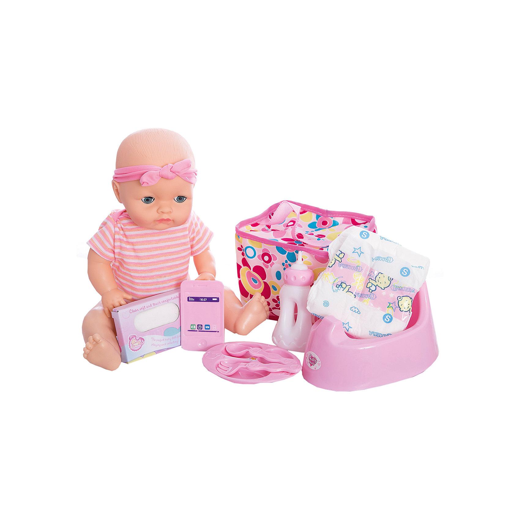 Функциональная кукла, озвученная, 40 см, Shantou GepaiИнтерактивные куклы<br>Функциональная кукла, озвученная, 40 см, Shantou Gepai - эта интересная кукла выглядит как настоящий малыш! Более того, в комплекте у этого пупса имеется все необходимое – бутылочка для кормления, детская тарелочка с возможностью разделения на три блюда, оригинальные ложка и вилка. У куклы в наборе имеется горшок и она умеет писать, в наборе имеется подгузник, салфетки и удобная сумочка для хранения всех необходимых аксессуаров куклы. Кукла одета в милое полосатое боди с цветочками, а не голове стильная розовая повязки. Если куклу положить, то ее глазки закроются. Нейтральное выражения лица пупса поможет ребенку придумать множество своих сценариев и чувств куклы, закладывая фундамент социальных навыков и социального развития. Играя с куклами дети познают человека, как с физиологической, так и с стороны общения между людьми, развивается моторика рук, внимание, воображение, такие игры положительно влияют на психологическое развитие. <br><br>Дополнительная информация:<br><br>- В комплект входит: 1 кукла в одежде, тарелка, ложка и вилка, бутылочка, горшок, подгузник, салфетки, сумочка.<br>- Материал: ПВХ, текстиль, пластик <br>- Размер куклы: 40 см<br><br>Функциональную куклу, озвученная, 40 см, Shantou Gepai можно купить в нашем интернет-магазине.<br><br>Подробнее:<br>• Для детей в возрасте: от 3 до 10 лет<br>• Номер товара: 4925545<br>Страна производитель: Китай<br><br>Ширина мм: 380<br>Глубина мм: 215<br>Высота мм: 360<br>Вес г: 1930<br>Возраст от месяцев: 36<br>Возраст до месяцев: 120<br>Пол: Женский<br>Возраст: Детский<br>SKU: 4925545