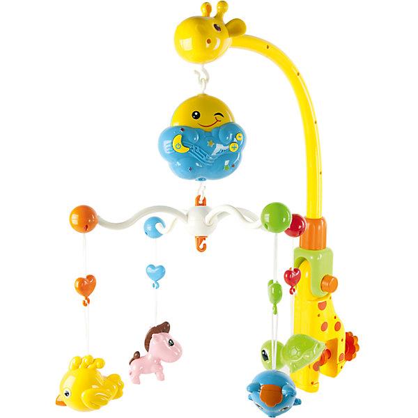Мобиль на кроватку Зоопарк, Shantou GepaiИгрушки для новорожденных<br>Мобиль на кроватку Зоопарк, Shantou Gepai развеселит вашего малыша! Яркая дуга в виде интересного и красочного жирафа с забавными зверятами и разными фигурками станет надежным компаньоном в кроватке крохи. Зверята медленно двигаются и аккуратно качаются под музыку. Озорное солнышко держит четыре дуги с черепашкой, птичкой, медвежонком и лошадкой. Эта подвеска с музыкой поможет развитию восприятия звука и цвета , а также разовьет воображение.<br><br>Дополнительная информация:<br><br>- В комплект входит: 4 дуги, держатель для дуг, солнышко-крепление, 5 подвесок <br>- Материал: АБС пластик<br>- Размер упаковки: 47 * 10 * 37 см<br>- Необходимы две батарейки типа АА (не входят в комплект)<br><br>Мобиль на кроватку Зоопарк, Shantou Gepai можно купить в нашем интернет-магазине.<br><br>Подробнее:<br>• Для детей в возрасте: от 0 до 12 месяцев<br>• Номер товара: 4925551<br>Страна производитель: Китай<br><br>Ширина мм: 460<br>Глубина мм: 100<br>Высота мм: 360<br>Вес г: 6319<br>Возраст от месяцев: 0<br>Возраст до месяцев: 24<br>Пол: Унисекс<br>Возраст: Детский<br>SKU: 4925551