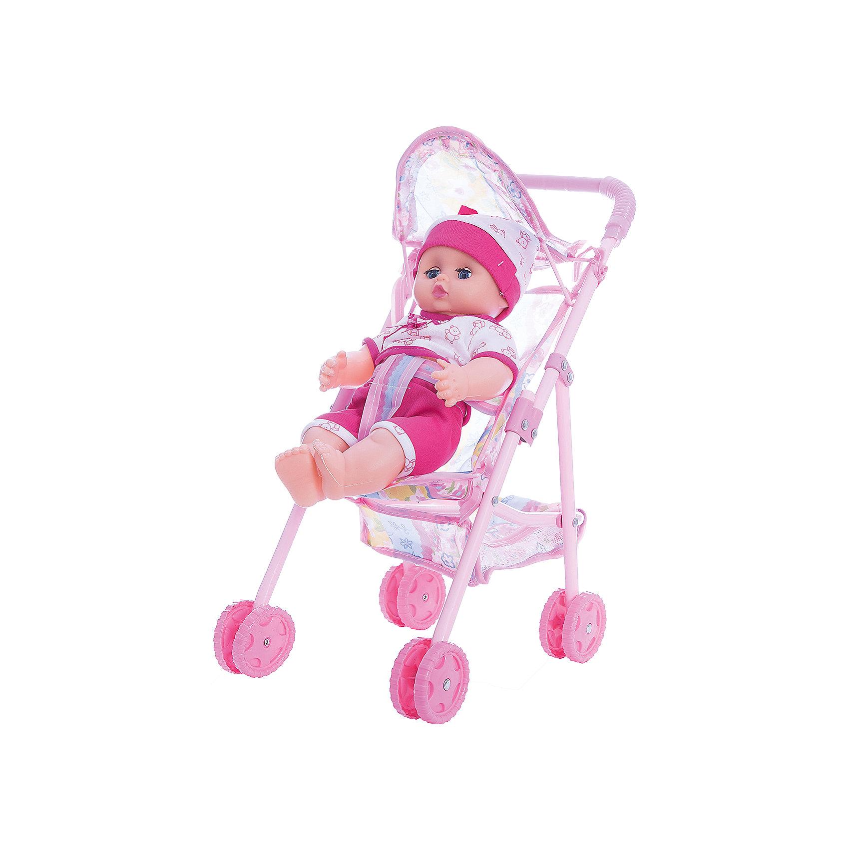 Кукла озвученная 30 см с коляской, Shantou GepaiИнтерактивные куклы<br>Кукла озвученная 30 см с коляской, Shantou Gepai - эта интересная кукла выглядит как настоящий малыш! Более того, в комплекте у этого пупса имеется и прогулочная коляска. Малыш одет в голубой комбинезончик и шапочку в тон и снабжен звуковыми эффектами. У коляски четыре двойных колеса и трехточечный ремень безопасности для куклы. Нейтральное выражения лица куклы поможет ребенку придумать множество своих сценариев и чувств куклы, закладывая фундамент социальных навыков и социального развития. Играя с куклами дети познают человека, как с физиологической, так и с стороны общения между людьми, развивается моторика рук, внимание, воображение, такие игры положительно влияют на психологическое развитие. <br><br>Дополнительная информация:<br><br>- В комплект входит: 1 кукла в одежде, коляска<br>- Материал: ПВХ, текстиль, пластик <br>- Размер куклы: 30 см<br>- Размер упаковки: 36 * 11,5 * 30,5 см.<br><br>Куклу озвученную 30 см с коляской, Shantou Gepai можно купить в нашем интернет-магазине.<br><br>Подробнее:<br>• Для детей в возрасте: от 3 до 10 лет<br>• Номер товара: 4925554<br>Страна производитель: Китай<br><br>Ширина мм: 360<br>Глубина мм: 115<br>Высота мм: 300<br>Вес г: 4917<br>Возраст от месяцев: 36<br>Возраст до месяцев: 120<br>Пол: Женский<br>Возраст: Детский<br>SKU: 4925554