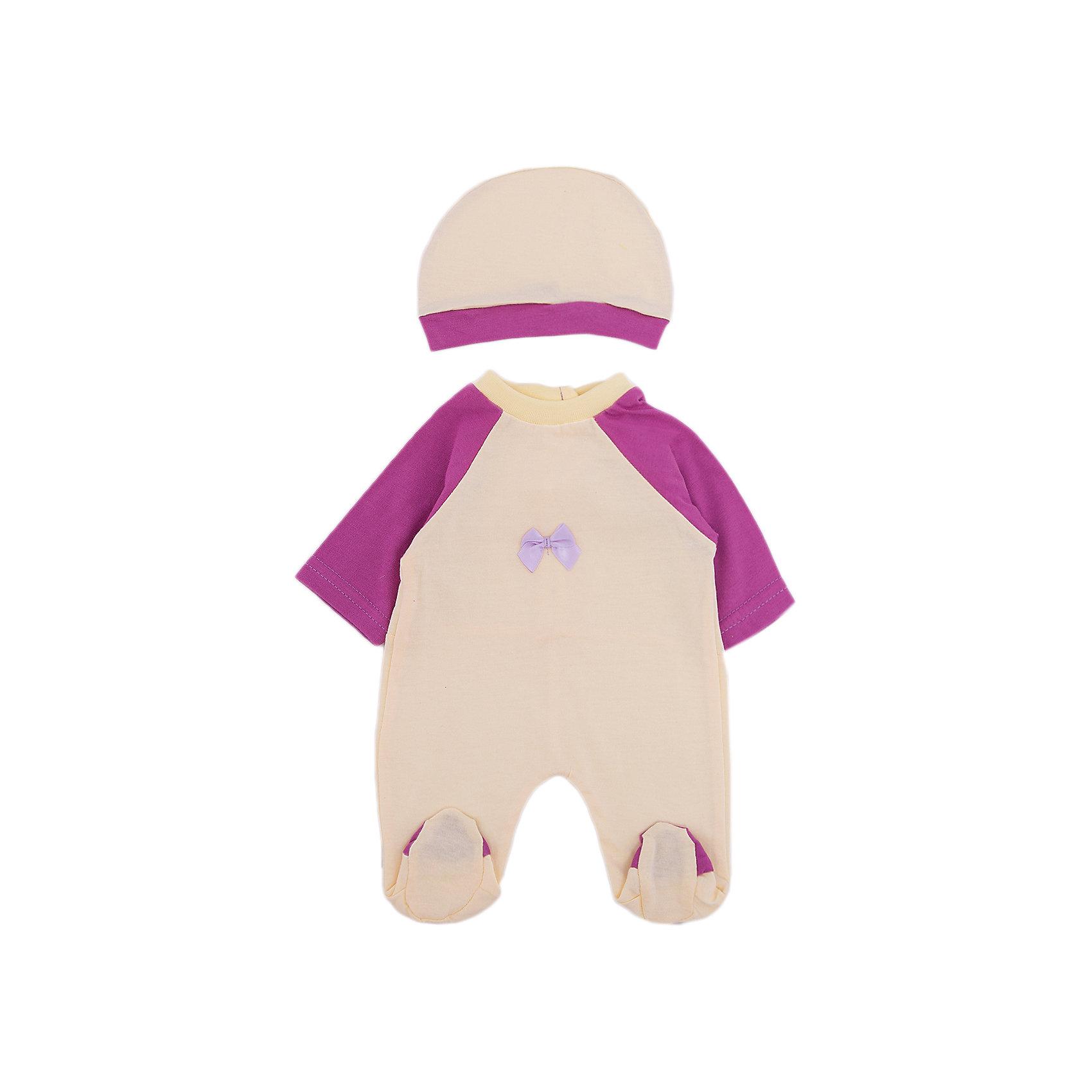 Одежда для куклы 42 см, комбинезон с шапочкой, Mary PoppinsОдежда для куклы 42 см, комбинезон с шапочкой от популярного российского бренда кукол и аксессуаров Mary Poppins (Мэри Поппинс). Интересный  комбинезон насыщенного цвета с длинным рукавом подойдет всем куклам длиной от 38 до 42 см., а шапочка в тон придет по вкусу хозяйке кукол. Маленькая мама может теперь менять одежду своим деткам или даже стирать ее в игрушечной машине. Играя с куклами дети познают человека, как с физиологической, так и с стороны общения между людьми, развивается моторика рук, внимание, воображение, такие игры положительно влияют на психологическое развитие. <br><br>Дополнительная информация:<br><br>- В комплект входит: комбинезон, шапочка<br>- Материал: текстиль<br>- Размер: 18 * 30 см.<br><br>Одежду для куклы 42 см, комбинезон с шапочкой, в ассортименте, Mary Poppins (Мэри Поппинс) можно купить в нашем интернет-магазине.<br><br>Подробнее:<br>• Для детей в возрасте: от 3 до 10 лет<br>• Номер товара: 4925566<br>Страна производитель: Китай<br><br>Ширина мм: 175<br>Глубина мм: 5<br>Высота мм: 300<br>Вес г: 27<br>Возраст от месяцев: 36<br>Возраст до месяцев: 120<br>Пол: Женский<br>Возраст: Детский<br>SKU: 4925566