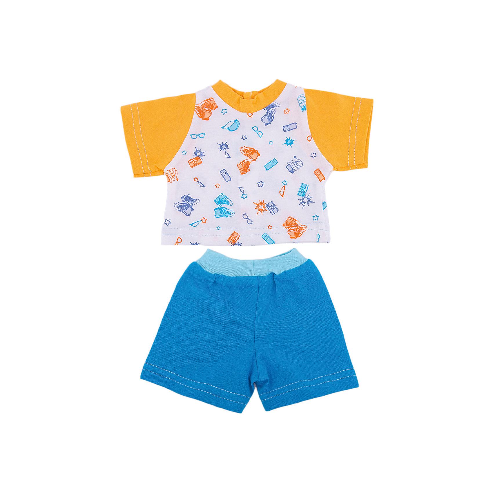 Mary Poppins Одежда для куклы 42 см, футболка и шортики, Mary Poppins, в ассортименте куклы и одежда для кукол bayer малышка первый поцелуй 42 см