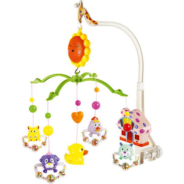 Музыкальная подвеска Теремок, со светом, Shantou GepaiИгрушки для новорожденных<br>Музыкальная подвеска Теремок, со светом, Shantou Gepai развеселит вашего малыша! Яркая подвеска с красочными животными и маленьким домиком-теремком, в котором  включается свет станет надежным компаньоном в кроватке крохи. Зверята медленно двигаются и аккуратно качаются под музыку. Громкость музыки регулируется. Эта подвеска с музыкой поможет развитию восприятия звука и цвета , а также разовьет воображение.<br><br>Дополнительная информация:<br><br>- В комплект входит: 2 дуги, держатель для дуг, домик, солнышко-крепление, 5 подвесок-погремушек<br>- Материал: АБС пластик<br>- Размер упаковки: 39,5 * 5,5 * 27,5 см<br>- Необходимы две батарейки типа АА (не входят в комплект)<br>- Вес: 640 гр.<br>Музыкальную подвеску Теремок, со светом, Shantou Gepai можно купить в нашем интернет-магазине.<br><br>Подробнее:<br>• Для детей в возрасте: от 0 до 12 месяцев<br>• Номер товара: 4925582<br>Страна производитель: Китай<br>Ширина мм: 395; Глубина мм: 55; Высота мм: 275; Вес г: 698; Возраст от месяцев: 0; Возраст до месяцев: 12; Пол: Унисекс; Возраст: Детский; SKU: 4925582;