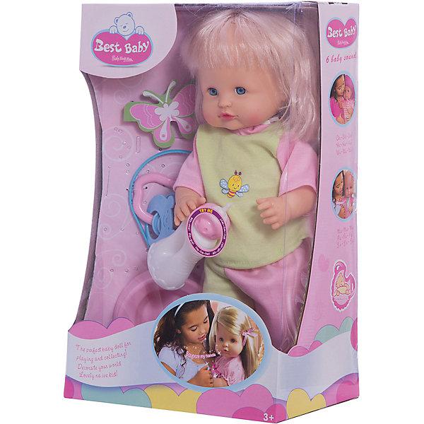 Пупс Сесилия 40 см, озвученный, Shantou GepaiКуклы<br>Пупс Сесилия 40 см, озвученный, Shantou Gepai - эта интересная кукла выглядит как настоящая маленькая девочка! Более того, в комплекте у этого пупса имеется все необходимые аксессуары по уходу – бутылочка для кормления, горшок, погремушка. Малышка одета в зелено-розовые штанишки и яркую кофточку в тон. Эта кукла умеет говорить, если нажать на ее ручку, она говорит мама, папа и другие слова. Нейтральное выражения лица пупса поможет ребенку придумать множество своих сценариев и чувств куклы, закладывая фундамент социальных навыков и социального развития. Играя с куклами дети познают человека, как с физиологической, так и с стороны общения между людьми, развивается моторика рук, внимание, воображение, такие игры положительно влияют на психологическое развитие. <br><br>Дополнительная информация:<br><br>- В комплект входит: 1 кукла в одежде, бутылочка, горшок, погремушка<br>- Материал: ПВХ, текстиль, пластик <br>- Размер куклы: 40 см<br><br>Пупса Сесилия 40 см, озвученного, Shantou Gepai можно купить в нашем интернет-магазине.<br><br>Подробнее:<br>• Для детей в возрасте: от 3 до 10 лет<br>• Номер товара: 4925590<br>Страна производитель: Китай<br>Ширина мм: 250; Глубина мм: 150; Высота мм: 380; Вес г: 4519; Возраст от месяцев: 36; Возраст до месяцев: 120; Пол: Женский; Возраст: Детский; SKU: 4925590;