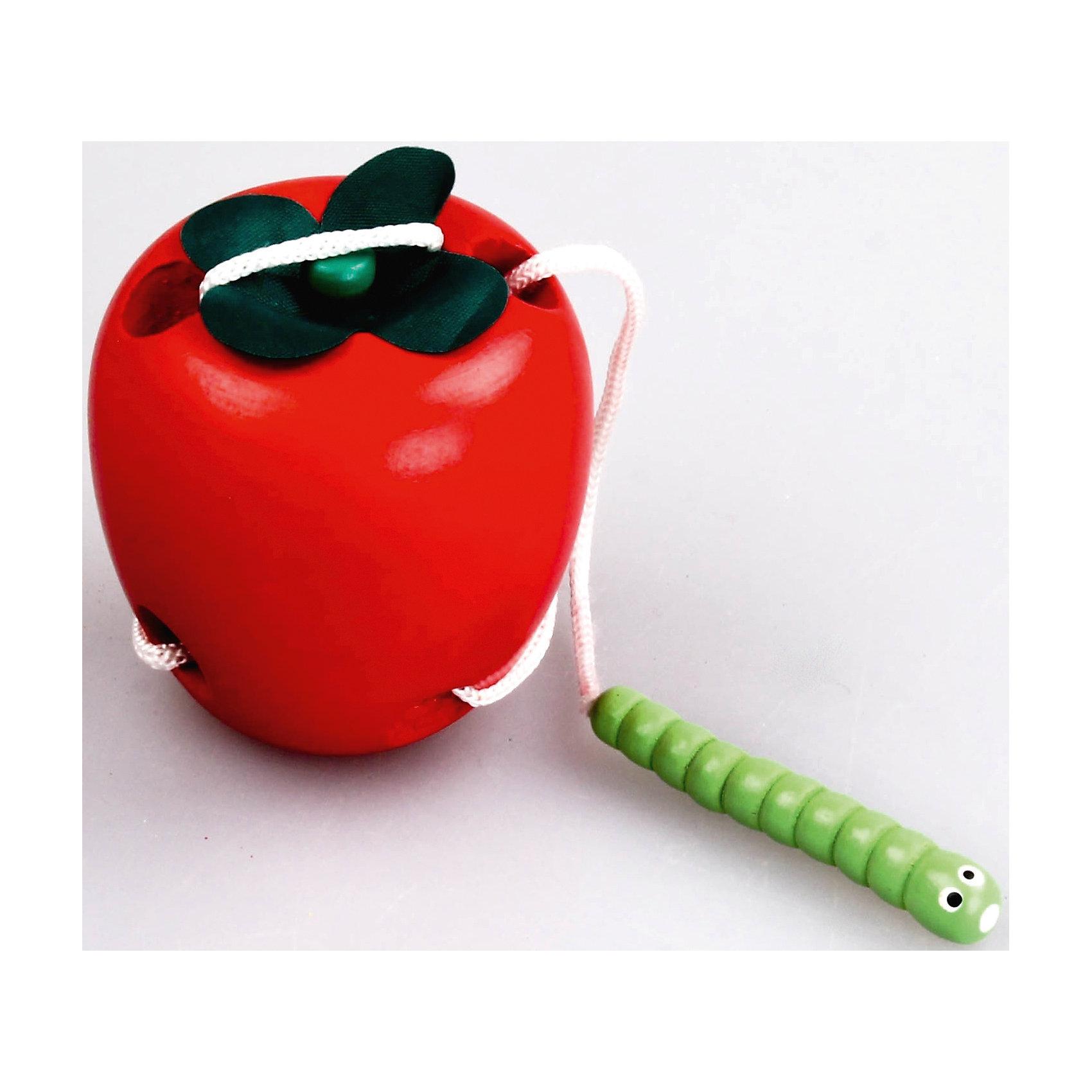 Развивающая игра Яблоко, MapachaДеревянные игры и пазлы<br>Развивающая игра Яблоко от популярного бренда развивающих детских товаров Mapacha (Мапача) развлечет вашу кроху! Эта необычная шнуровка в виде яблока и гусеницы подготовит ребенка к завязыванию шнурков и поможет разработать мелкую моторику ручек и сформировать усидчивость. Малыш должен пропускать гусеницу в отверстия, как иголочку, развивая также и навыки логического мышления. Набор изготовлен из экологически чистого и натурального материала – дерева, отшлифован и окрашен в яркие цвета. <br><br>Дополнительная информация:<br><br>- В комплект входит: яблоко, гусеница со шнурком <br>- Материал: дерево, текстиль<br>- Размер с упаковкой: 21 * 5 * 14 см.<br>- Вес 0,14 кг.<br><br>Развивающую игру  Яблоко, Mapacha (Мапача) можно купить в нашем интернет-магазине.<br><br>Подробнее:<br>• Для детей в возрасте: от 3 до 6 лет<br>• Номер товара: 4925594<br>Страна производитель: Китай<br><br>Ширина мм: 120<br>Глубина мм: 70<br>Высота мм: 190<br>Вес г: 83<br>Возраст от месяцев: 36<br>Возраст до месяцев: 120<br>Пол: Унисекс<br>Возраст: Детский<br>SKU: 4925594