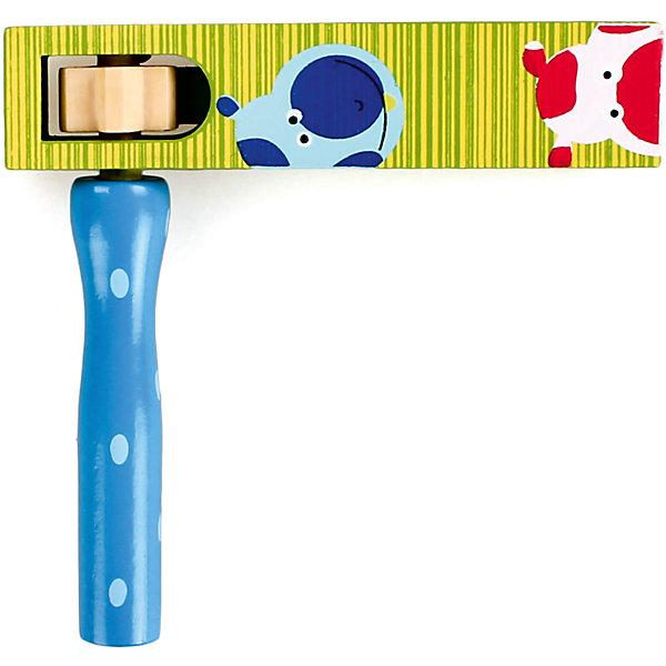 Трещотка круговая, зелено-синяя, MapachaДругие музыкальные инструменты<br>Трещотка круговая, зелено-синяя от популярного бренда развивающих детских товаров Mapacha (Мапача) развлечет вашего ребенка. Шумная и интересная игрушка-трещотка создает звуки при вращении. Игрушка изготовлена из экологически чистого и натурального материала – дерева, отлично отшлифована и окрашена в яркие цвета безопасными для детейкрасками. Эта трещотка развивает звуковое восприятие ребенка, моторику рук, внимание, воображение и положительно влияет на психологическое развитие. <br><br>Дополнительная информация:<br><br>- В комплект входит: 1 трещотка<br>- Материал: дерево <br>- Размер: 12 * 12<br>- Вес: 0,5 кг.<br><br>Трещотку круговую, зелено-синюю, Mapacha (Мапача) можно купить в нашем интернет-магазине.<br><br>Подробнее:<br>• Для детей в возрасте: от 1 до 5 лет<br>• Номер товара: 4925602<br>Страна производитель: Китай<br>Ширина мм: 150; Глубина мм: 20; Высота мм: 195; Вес г: 3; Возраст от месяцев: 180; Возраст до месяцев: 84; Пол: Унисекс; Возраст: Детский; SKU: 4925602;