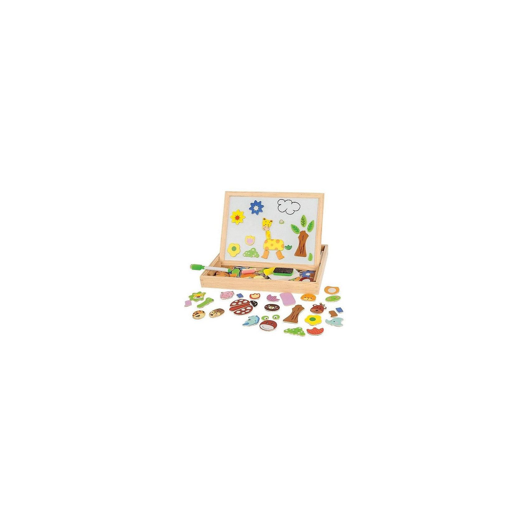 Чудо-чемоданчик Зоопарк, MapachaРазвивающие игрушки<br>Чудо-чемоданчик Зоопарк от популярного бренда развивающих детских товаров Mapacha (Мапача) развлечет вашего ребенка. В чемоданчик входит доска с магнитно-маркерной стороной и меловой стороной. Теперь нет предела для творчества, рисовать можно сколько угодно и как угодно. В набор входят также магниты из которых можно собирать зверей, можно придумать своих выбирая из представленных частей, маркер для белой доски, мелки и губка. С этим набором можно придумать много интересных игр, таких как игра в зоопарк. Чемоданчик и рама доски изготовлены из дерева. С помощью этого чемоданчика малыш сможет развить логику, разработать моторику рук, внимание и воображение.<br><br>Дополнительная информация:<br><br>- В комплект входит: 1 чемоданчик, 1 доска<br>- Материал: дерево, пластик<br>- Размер: 36 * 66 *51 см<br><br>Чудо-чемоданчик  Зоопарк , Mapacha (Мапача) можно купить в нашем интернет-магазине.<br><br>Подробнее:<br>• Для детей в возрасте: от 3 до 6 лет<br>• Номер товара: 4925605<br>Страна производитель: Китай<br><br>Ширина мм: 305<br>Глубина мм: 35<br>Высота мм: 235<br>Вес г: 3090<br>Возраст от месяцев: 24<br>Возраст до месяцев: 72<br>Пол: Унисекс<br>Возраст: Детский<br>SKU: 4925605