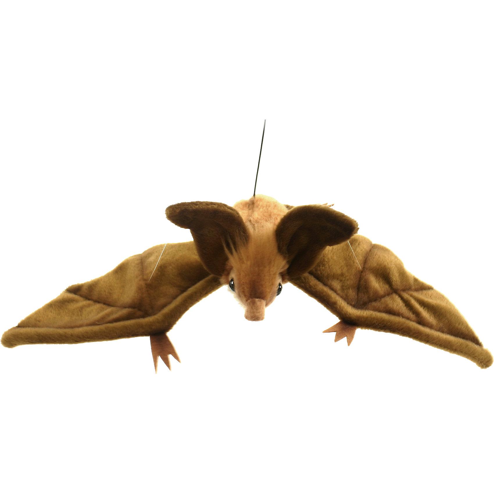 Коричневая летучая мышь (парящая), 37 см, HansaЗвери и птицы<br>Коричневая летучая мышь (парящая), 37 см – игрушка от знаменитого бренда Hansa, специализирующегося на выпуске мягких игрушек с высокой степенью натуралистичности. Внешний вид игрушки полностью соответствует своему реальному прототипу – летучей мыши. Она выполнена из искусственного меха с коротким ворсом коричневого цвета. Использованные материалы обладают гипоаллергенными свойствами. Внутри игрушки имеется металлический каркас, позволяющий изменять положение. <br>Игрушка относится к серии Дикие животные. <br>Мягкие игрушки от Hansa подходят для сюжетно-ролевых игр, для обучающих игр, направленных на знакомство с животным миром дикой природы. Кроме того, их можно использовать в качестве интерьерных игрушек. Коллекция из нескольких игрушек позволяет создать свой домашний зоопарк, который будет радовать вашего ребенка долгое время, так как ручная работа и качественные материалы гарантируют их долговечность и прочность.<br><br>Дополнительная информация:<br><br>- Вид игр: сюжетно-ролевые игры, коллекционирование, интерьерные игрушки<br>- Предназначение: для дома, для детских развивающих центров, для детских садов<br>- Материал: искусственный мех, наполнитель ? полиэфирное волокно<br>- Размер (ДхШхВ): 37*10*12 см<br>- Вес: 475 г<br>- Особенности ухода: сухая чистка при помощи пылесоса или щетки для одежды<br><br>Подробнее:<br><br>• Для детей в возрасте: от 3 лет <br>• Страна производитель: Филиппины<br>• Торговый бренд: Hansa<br><br>Коричневую летучую мышь (парящую), 37 см можно купить в нашем интернет-магазине.<br><br>Ширина мм: 37<br>Глубина мм: 10<br>Высота мм: 12<br>Вес г: 475<br>Возраст от месяцев: 36<br>Возраст до месяцев: 2147483647<br>Пол: Унисекс<br>Возраст: Детский<br>SKU: 4927150
