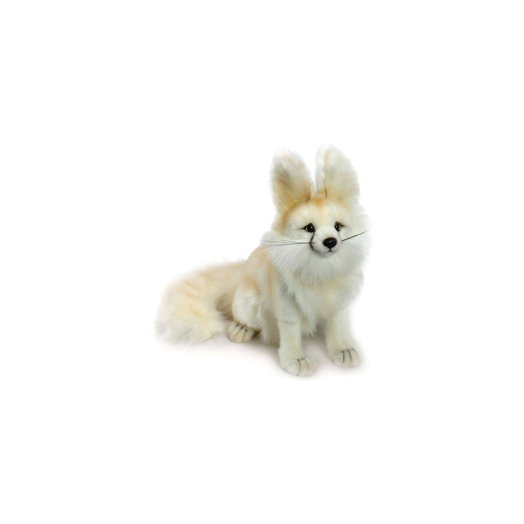 Пустынная лисица, 33 смЗвери и птицы<br>Пустынная лисица, 33 см – игрушка от знаменитого бренда Hansa, специализирующегося на выпуске мягких игрушек с высокой степенью натуралистичности. Внешний игрушки полностью соответствует реальному прототипу – пустынной лисице. Игрушка выполнена из светлого меха с ворсом средней длины, который обладает гипоаллергенными свойствами. У лисицы большие ушки и пушистый хвост. Внутри имеется металлический каркас, который позволяет изменять положение. Игрушка относится к серии Дикие животные. <br>Мягкие игрушки от Hansa подходят для сюжетно-ролевых игр или для обучающих игр. Кроме того, их можно использовать в качестве интерьерных игрушек. Игрушки от Hansa будут радовать вашего ребенка долгое время, так как ручная работа и качественные материалы гарантируют их долговечность и прочность.<br><br>Дополнительная информация:<br><br>- Вид игр: сюжетно-ролевые игры, коллекционирование, интерьерные игрушки<br>- Предназначение: для дома, для детских развивающих центров, для детских садов<br>- Материал: искусственный мех, наполнитель ? полиэфирное волокно<br>- Размер (ДхШхВ): 27*33*18 см<br>- Вес: 430 г<br>- Особенности ухода: сухая чистка при помощи пылесоса или щетки для одежды<br><br>Подробнее:<br><br>• Для детей в возрасте: от 3 лет <br>• Страна производитель: Филиппины<br>• Торговый бренд: Hansa<br><br>Пустынную лисицу, 33 см можно купить в нашем интернет-магазине.<br><br>Ширина мм: 27<br>Глубина мм: 33<br>Высота мм: 18<br>Вес г: 430<br>Возраст от месяцев: 36<br>Возраст до месяцев: 2147483647<br>Пол: Унисекс<br>Возраст: Детский<br>SKU: 4927155