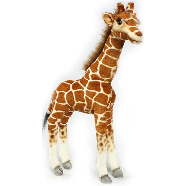Жираф, 50 смМягкие игрушки животные<br>Жираф, 50 см – игрушка от знаменитого бренда Hansa, специализирующегося на выпуске мягких игрушек с высокой степенью натуралистичности. Внешний вид игрушечного жирафа полностью соответствует своему реальному прототипу. Он выполнен из искусственного меха с коротким ворсом характерного окраса. Использованные материалы обладают гипоаллергенными свойствами. Внутри игрушки имеется металлический каркас, позволяющий изменять положение. <br>Игрушка относится к серии Дикие животные. <br>Мягкие игрушки от Hansa подходят для сюжетно-ролевых игр, для обучающих игр, направленных на знакомство с животным миром дикой природы. Кроме того, их можно использовать в качестве интерьерных игрушек. Коллекция из нескольких игрушек позволяет создать свой домашний зоопарк, который будет радовать вашего ребенка долгое время, так как ручная работа и качественные материалы гарантируют их долговечность и прочность.<br><br>Дополнительная информация:<br><br>- Вид игр: сюжетно-ролевые игры, коллекционирование, интерьерные игрушки<br>- Предназначение: для дома, для детских развивающих центров, для детских садов<br>- Материал: искусственный мех, наполнитель ? полиэфирное волокно<br>- Размер (ДхШхВ): 35*50*10 см<br>- Вес: 780 г<br>- Особенности ухода: сухая чистка при помощи пылесоса или щетки для одежды<br><br>Подробнее:<br><br>• Для детей в возрасте: от 3 лет <br>• Страна производитель: Филиппины<br>• Торговый бренд: Hansa<br><br>Жирафа, 50 см можно купить в нашем интернет-магазине.<br>Ширина мм: 35; Глубина мм: 50; Высота мм: 10; Вес г: 780; Возраст от месяцев: 36; Возраст до месяцев: 2147483647; Пол: Унисекс; Возраст: Детский; SKU: 4927161;