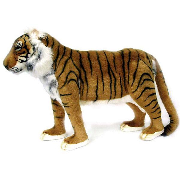Тигр , 60 смМягкие игрушки животные<br>Тигр, 60 см – игрушка от знаменитого бренда Hansa, специализирующегося на выпуске мягких игрушек с высокой степенью натуралистичности. Внешний вид игрушки полностью соответствует реальному прототипу –  тигру. Он выполнен из искусственного меха с коротким ворсом. Окрас меха выполнен в рыжих и коричневых оттенках в черную полоску. Внутри имеется металлический каркас, который позволяет изменять положение. <br>Игрушка относится к серии Дикие животные. Выполнена из искусственного меха, обладающего гипоаллергенными свойствами.   <br>Мягкие игрушки от Hansa подходят для сюжетно-ролевых игр, для обучающих игр, направленных на знакомство с животным миром дикой природы. Кроме того, их можно использовать в качестве интерьерных игрушек. Коллекция из нескольких игрушек позволяет создать свой домашний зоопарк, который будет радовать вашего ребенка долгое время, так как ручная работа и качественные материалы гарантируют их долговечность и прочность.<br><br>Дополнительная информация:<br><br>- Вид игр: сюжетно-ролевые игры, коллекционирование, интерьерные игрушки<br>- Предназначение: для дома, для детских развивающих центров, для детских садов<br>- Материал: искусственный мех, наполнитель ? полиэфирное волокно<br>- Размер (ДхШхВ): 55*45*20 см<br>- Вес: 1 кг 050 г<br>- Особенности ухода: сухая чистка при помощи пылесоса или щетки для одежды<br><br>Подробнее:<br><br>• Для детей в возрасте: от 3 лет <br>• Страна производитель: Филиппины<br>• Торговый бренд: Hansa<br><br>Тигра, 60 см можно купить в нашем интернет-магазине.<br><br>Ширина мм: 55<br>Глубина мм: 45<br>Высота мм: 20<br>Вес г: 1050<br>Возраст от месяцев: 36<br>Возраст до месяцев: 2147483647<br>Пол: Унисекс<br>Возраст: Детский<br>SKU: 4927162
