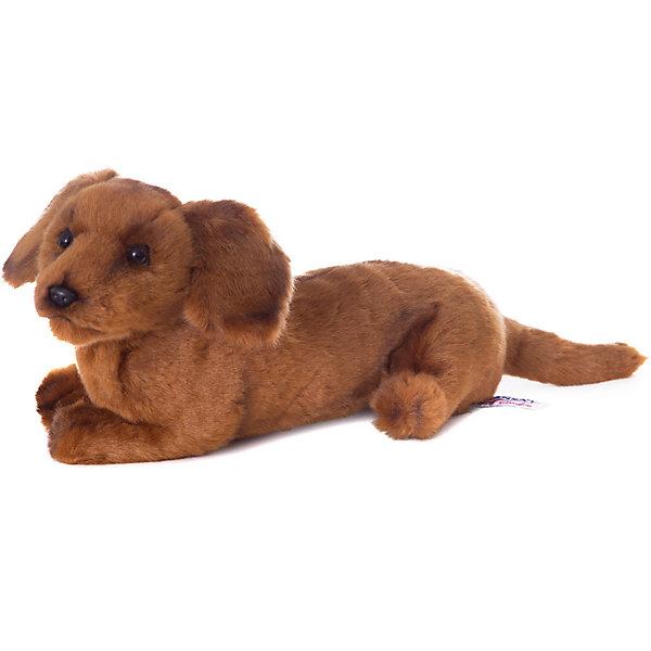 Щенок таксы, 40 смСимвол года<br>Щенок таксы, 40 см – игрушка от знаменитого бренда Hansa, специализирующегося на выпуске мягких игрушек с высокой степенью натуралистичности. Внешний вид игрушечного щенка полностью соответствует своему реальному прототипу – собаке породы Такса. Он выполнен из искусственного меха с коротким ворсом. Окрас игрушки полностью имитирует окрас, характерный для таксы. Использованные материалы обладают гипоаллергенными свойствами. Внутри игрушки имеется металлический каркас, позволяющий изменять положение. <br>Игрушка относится к серии Домашние животные. <br>Мягкие игрушки от Hansa подходят для сюжетно-ролевых игр, для обучающих игр, направленных на знакомство с миром живой природы. Кроме того, их можно использовать в качестве интерьерных игрушек. Представленные у торгового бренда разнообразие игрушечных собак позволяет собрать свою коллекцию пород, которая будет радовать вашего ребенка долгое время, так как ручная работа и качественные материалы гарантируют их долговечность и прочность.<br><br>Дополнительная информация:<br><br>- Вид игр: сюжетно-ролевые игры, коллекционирование, интерьерные игрушки<br>- Предназначение: для дома, для детских развивающих центров, для детских садов<br>- Материал: искусственный мех, наполнитель ? полиэфирное волокно<br>- Размер (ДхШхВ): 13*16*40 см<br>- Вес: 640 г<br>- Особенности ухода: сухая чистка при помощи пылесоса или щетки для одежды<br><br>Подробнее:<br><br>• Для детей в возрасте: от 3 лет <br>• Страна производитель: Филиппины<br>• Торговый бренд: Hansa<br><br>Щенка таксы, 40 см можно купить в нашем интернет-магазине.<br>Ширина мм: 13; Глубина мм: 16; Высота мм: 40; Вес г: 640; Возраст от месяцев: 36; Возраст до месяцев: 2147483647; Пол: Унисекс; Возраст: Детский; SKU: 4927169;