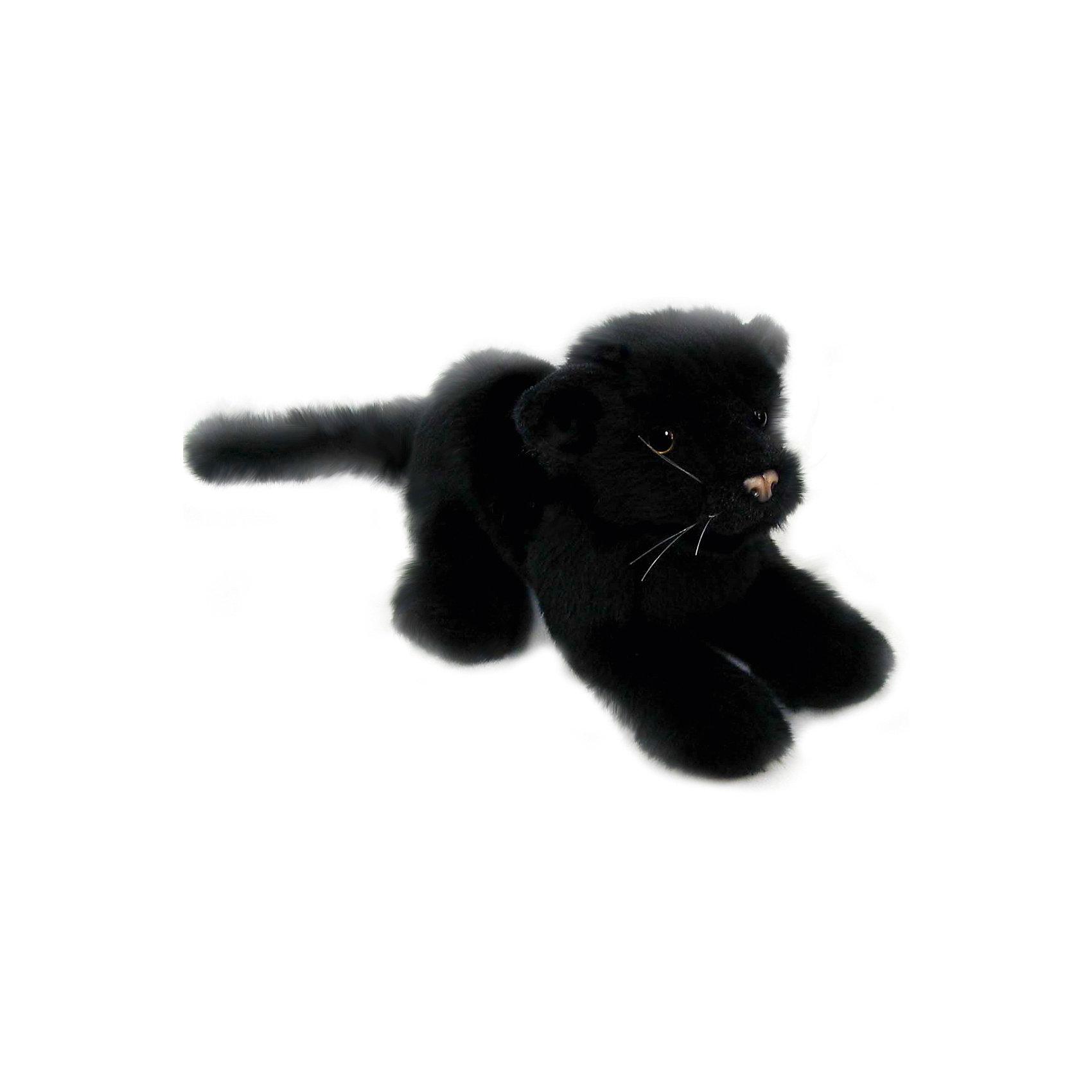 Детеныш черной пантеры, 26 смДетеныш черной пантеры, 26 см – игрушка от знаменитого бренда Hansa, специализирующегося на выпуске мягких игрушек с высокой степенью натуралистичности. Внешний вид игрушечного котенка черной пантеры полностью соответствует реальному прототипу. Он выполнен из искусственного черного меха с ворсом средней длины. Использованные материалы обладают гипоаллергенными свойствами. Внутри игрушки имеется металлический каркас, позволяющий изменять положение. <br>Игрушка относится к серии Дикие животные. <br>Мягкие игрушки от Hansa подходят для сюжетно-ролевых игр, для обучающих игр, направленных на знакомство с животным миром дикой природы. Кроме того, их можно использовать в качестве интерьерных игрушек. Коллекция из нескольких игрушек позволяет создать свой домашний зоопарк, который будет радовать вашего ребенка долгое время, так как ручная работа и качественные материалы гарантируют их долговечность и прочность.<br><br>Дополнительная информация:<br><br>- Вид игр: сюжетно-ролевые игры, коллекционирование, интерьерные игрушки<br>- Предназначение: для дома, для детских развивающих центров, для детских садов<br>- Материал: искусственный мех, наполнитель ? полиэфирное волокно<br>- Размер (ДхШхВ): 26*16*11 см<br>- Вес: 405 г<br>- Особенности ухода: сухая чистка при помощи пылесоса или щетки для одежды<br><br>Подробнее:<br><br>• Для детей в возрасте: от 3 лет <br>• Страна производитель: Филиппины<br>• Торговый бренд: Hansa<br><br>Детеныша черной пантеры, 26 см можно купить в нашем интернет-магазине.<br><br>Ширина мм: 26<br>Глубина мм: 16<br>Высота мм: 11<br>Вес г: 405<br>Возраст от месяцев: 36<br>Возраст до месяцев: 2147483647<br>Пол: Унисекс<br>Возраст: Детский<br>SKU: 4927178