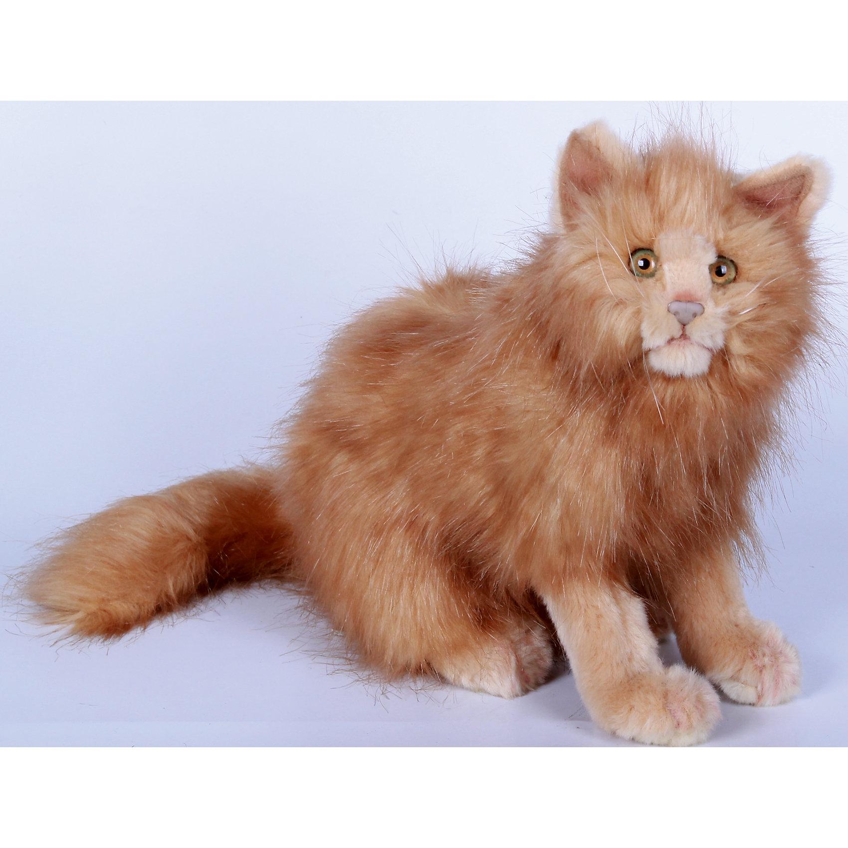 Кошка рыжая, 27 смКошки и собаки<br>Кошка рыжая, 27 см – игрушка от знаменитого бренда Hansa, специализирующегося на выпуске мягких игрушек с высокой степенью натуралистичности. Внешний вид игрушечного кошки полностью соответствует своему реальному прототипу. Она выполнена из искусственного меха рыжего цвета с длинным ворсом. Использованные материалы обладают гипоаллергенными свойствами. Внутри игрушки имеется металлический каркас, позволяющий изменять положение. <br>Игрушка относится к серии Домашние животные. <br>Мягкие игрушки от Hansa подходят для сюжетно-ролевых игр, для обучающих игр, направленных на знакомство с миром живой природы. Кроме того, их можно использовать в качестве интерьерных игрушек. Представленные у торгового бренда разнообразие игрушечных кошек позволяет собрать свою коллекцию пород, которая будет радовать вашего ребенка долгое время, так как ручная работа и качественные материалы гарантируют их долговечность и прочность.<br><br>Дополнительная информация:<br><br>- Вид игр: сюжетно-ролевые игры, коллекционирование, интерьерные игрушки<br>- Предназначение: для дома, для детских развивающих центров, для детских садов<br>- Материал: искусственный мех, наполнитель ? полиэфирное волокно<br>- Размер (ДхШхВ): 31*27*19 см<br>- Вес: 735 г<br>- Особенности ухода: сухая чистка при помощи пылесоса или щетки для одежды<br><br>Подробнее:<br><br>• Для детей в возрасте: от 3 лет <br>• Страна производитель: Филиппины<br>• Торговый бренд: Hansa<br><br>Кошку рыжую, 27 см можно купить в нашем интернет-магазине.<br><br>Ширина мм: 31<br>Глубина мм: 27<br>Высота мм: 19<br>Вес г: 735<br>Возраст от месяцев: 36<br>Возраст до месяцев: 2147483647<br>Пол: Унисекс<br>Возраст: Детский<br>SKU: 4927184