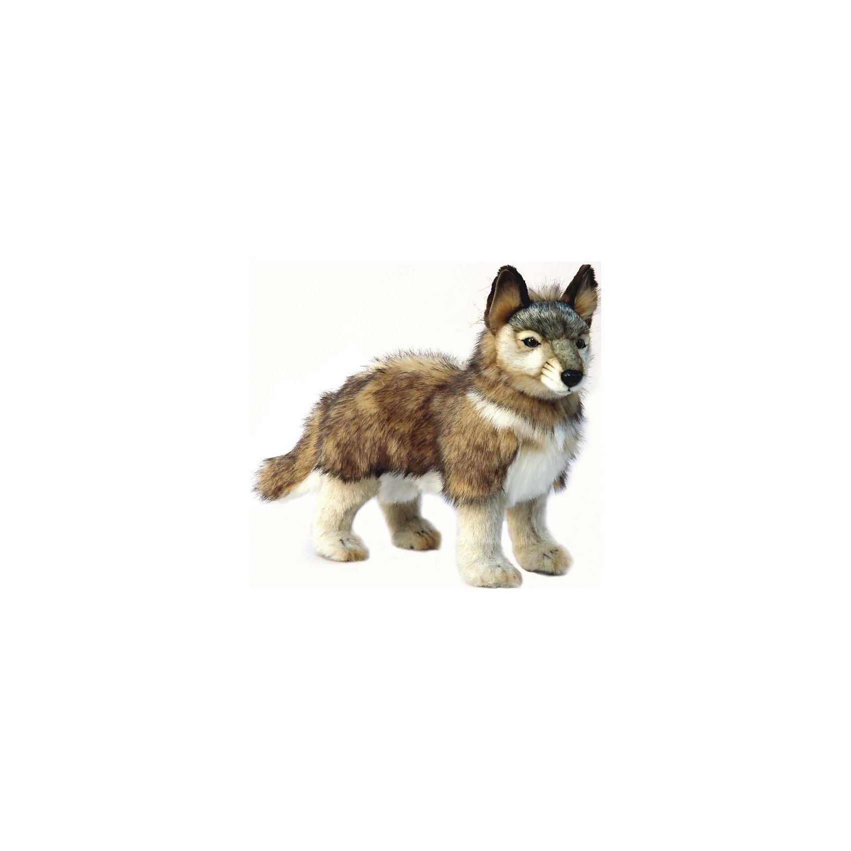 Hansa Волченок серый, стоящий, 44 см интерактивные игрушки hansa верблюд 110 см