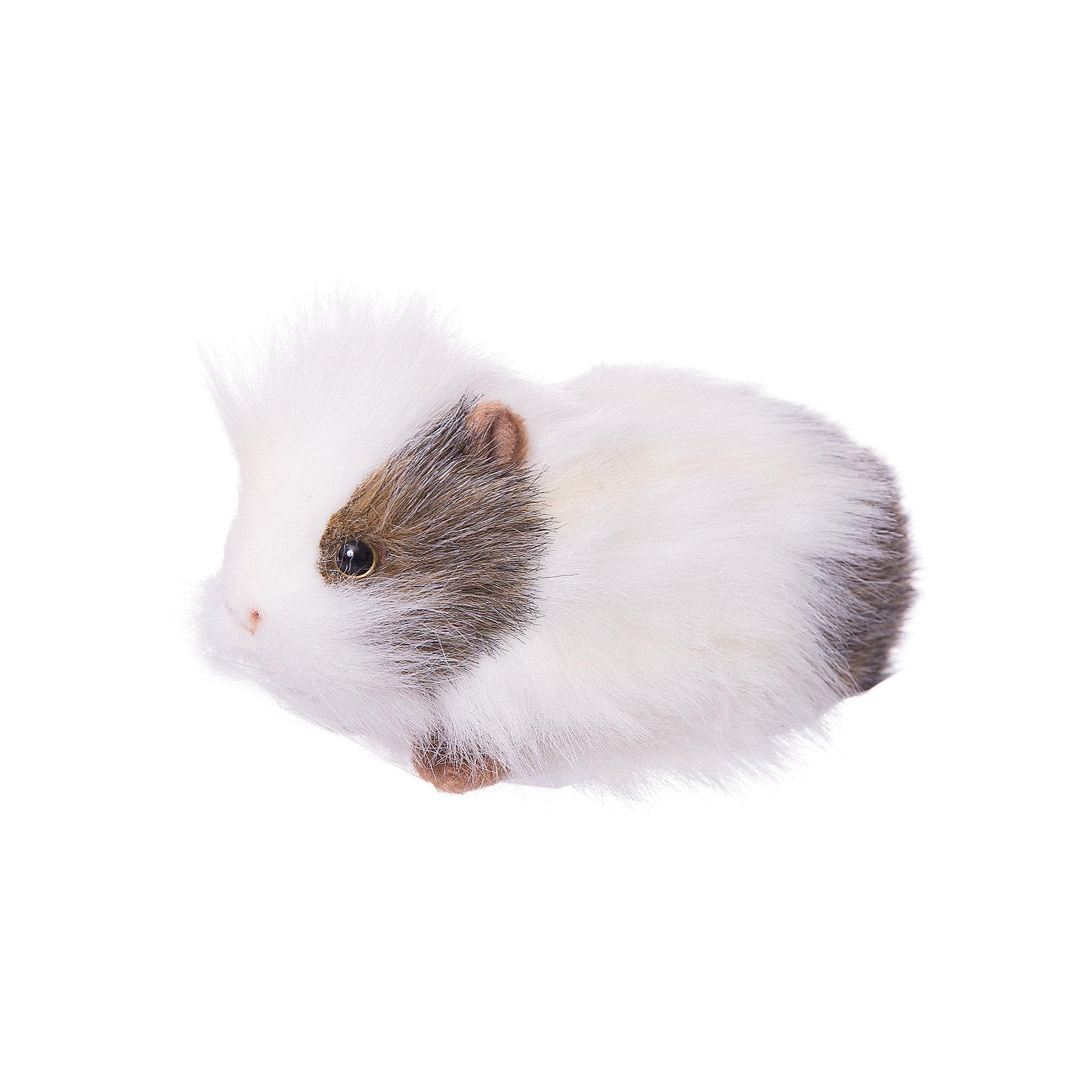 Морская свинка белая, 20 см ДМорская свинка белая, 20 см Д – игрушка от знаменитого бренда Hansa, специализирующегося на выпуске мягких игрушек с высокой степенью натуралистичности. Внешний вид игрушки полностью соответствует своему реальному прототипу – морской свинке. Она выполнена из искусственного меха с длинным ворсом. Окрас игрушки полностью повторяет окраску настоящего животного: сочетание темных и белых оттенков. Использованные материалы обладают гипоаллергенными свойствами. Внутри игрушки имеется металлический каркас, позволяющий изменять положение. <br>Игрушка относится к сериям Домашние животные и Дикие животные. <br>Мягкие игрушки от Hansa подходят для сюжетно-ролевых игр, для обучающих игр, направленных на знакомство с животным миром дикой природы. Кроме того, их можно использовать в качестве интерьерных игрушек. Коллекция из нескольких игрушек позволяет создать свой домашний зоопарк, который будет радовать вашего ребенка долгое время, так как ручная работа и качественные материалы гарантируют их долговечность и прочность.<br><br>Дополнительная информация:<br><br>- Вид игр: сюжетно-ролевые игры, коллекционирование, интерьерные игрушки<br>- Предназначение: для дома, для детских развивающих центров, для детских садов<br>- Материал: искусственный мех, наполнитель ? полиэфирное волокно<br>- Размер (ДхШхВ): 20*10*9 см<br>- Вес: 360 г<br>- Особенности ухода: сухая чистка при помощи пылесоса или щетки для одежды<br><br>Подробнее:<br><br>• Для детей в возрасте: от 3 лет <br>• Страна производитель: Филиппины<br>• Торговый бренд: Hansa<br><br>Морскую свинку белую, 20 см Д можно купить в нашем интернет-магазине.<br><br>Ширина мм: 20<br>Глубина мм: 10<br>Высота мм: 9<br>Вес г: 360<br>Возраст от месяцев: 36<br>Возраст до месяцев: 2147483647<br>Пол: Унисекс<br>Возраст: Детский<br>SKU: 4927188