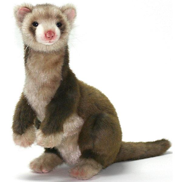 Хорек коричневый, 32 смМягкие игрушки животные<br>Хорек коричневый, 32 см – игрушка от знаменитого бренда Hansa, специализирующегося на выпуске мягких игрушек с высокой степенью натуралистичности. Внешний вид игрушки полностью соответствует реальному прототипу – хорьку. Он выполнен из искусственного меха с ворсом разной длины: спинка и хвостик – из меха со средней длиной ворса темно-коричневого цвета, длинный золотистых мех – на грудке и мордочке. Использованные материалы обладают гипоаллергенными свойствами. Внутри игрушки имеется металлический каркас, позволяющий изменять положение. <br>Игрушка относится к серии Дикие животные. <br>Мягкие игрушки от Hansa подходят для сюжетно-ролевых игр, для обучающих игр, направленных на знакомство с животным миром дикой природы. Кроме того, их можно использовать в качестве интерьерных игрушек. Коллекция из нескольких игрушек позволяет создать свою домашнюю ферму, которая будет радовать вашего ребенка долгое время, так как ручная работа и качественные материалы гарантируют их долговечность и прочность.<br><br>Дополнительная информация:<br><br>- Вид игр: сюжетно-ролевые игры, коллекционирование, интерьерные игрушки<br>- Предназначение: для дома, для детских развивающих центров, для детских садов<br>- Материал: искусственный мех, наполнитель ? полиэфирное волокно<br>- Размер (ДхШхВ): 29*32*20 см<br>- Вес: 795 г<br>- Особенности ухода: сухая чистка при помощи пылесоса или щетки для одежды<br><br>Подробнее:<br><br>• Для детей в возрасте: от 3 лет <br>• Страна производитель: Филиппины<br>• Торговый бренд: Hansa<br><br>Хорька коричневого, 32 см можно купить в нашем интернет-магазине.<br><br>Ширина мм: 29<br>Глубина мм: 32<br>Высота мм: 20<br>Вес г: 795<br>Возраст от месяцев: 36<br>Возраст до месяцев: 2147483647<br>Пол: Унисекс<br>Возраст: Детский<br>SKU: 4927190