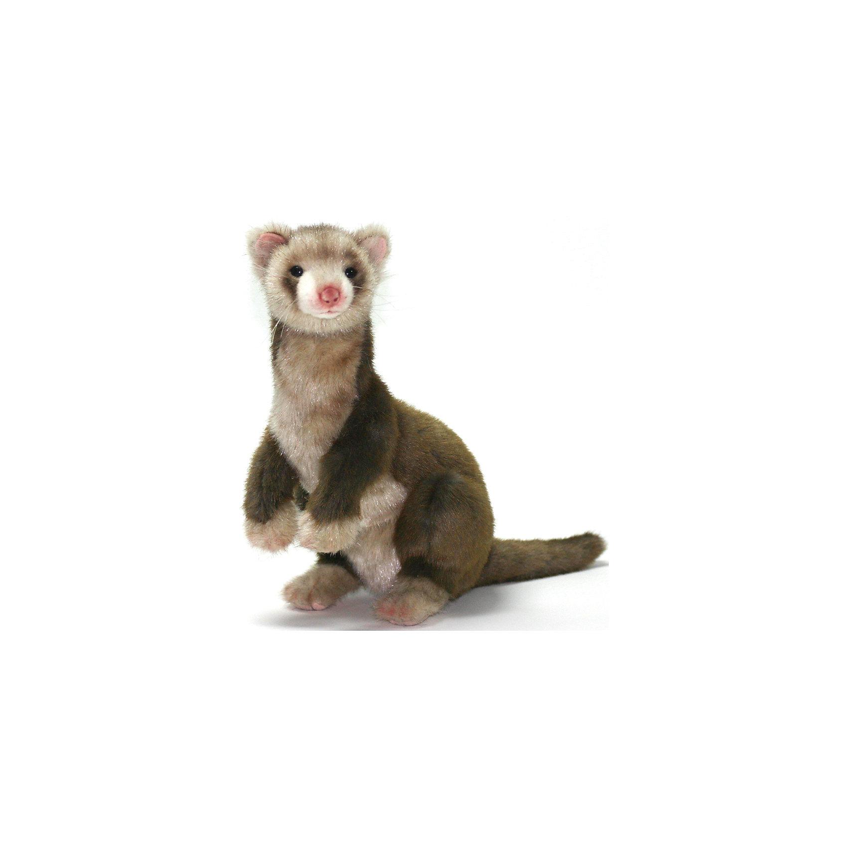 Хорек коричневый, 32 смХорек коричневый, 32 см – игрушка от знаменитого бренда Hansa, специализирующегося на выпуске мягких игрушек с высокой степенью натуралистичности. Внешний вид игрушки полностью соответствует реальному прототипу – хорьку. Он выполнен из искусственного меха с ворсом разной длины: спинка и хвостик – из меха со средней длиной ворса темно-коричневого цвета, длинный золотистых мех – на грудке и мордочке. Использованные материалы обладают гипоаллергенными свойствами. Внутри игрушки имеется металлический каркас, позволяющий изменять положение. <br>Игрушка относится к серии Дикие животные. <br>Мягкие игрушки от Hansa подходят для сюжетно-ролевых игр, для обучающих игр, направленных на знакомство с животным миром дикой природы. Кроме того, их можно использовать в качестве интерьерных игрушек. Коллекция из нескольких игрушек позволяет создать свою домашнюю ферму, которая будет радовать вашего ребенка долгое время, так как ручная работа и качественные материалы гарантируют их долговечность и прочность.<br><br>Дополнительная информация:<br><br>- Вид игр: сюжетно-ролевые игры, коллекционирование, интерьерные игрушки<br>- Предназначение: для дома, для детских развивающих центров, для детских садов<br>- Материал: искусственный мех, наполнитель ? полиэфирное волокно<br>- Размер (ДхШхВ): 29*32*20 см<br>- Вес: 795 г<br>- Особенности ухода: сухая чистка при помощи пылесоса или щетки для одежды<br><br>Подробнее:<br><br>• Для детей в возрасте: от 3 лет <br>• Страна производитель: Филиппины<br>• Торговый бренд: Hansa<br><br>Хорька коричневого, 32 см можно купить в нашем интернет-магазине.<br><br>Ширина мм: 29<br>Глубина мм: 32<br>Высота мм: 20<br>Вес г: 795<br>Возраст от месяцев: 36<br>Возраст до месяцев: 2147483647<br>Пол: Унисекс<br>Возраст: Детский<br>SKU: 4927190