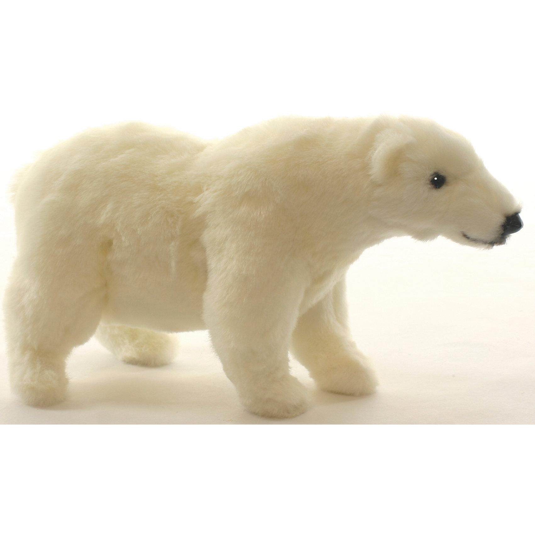 Белый медведь стоящий, 27 смМедвежата<br>Белый медведь стоящий, 27 см – игрушка от знаменитого бренда Hansa, специализирующегося на выпуске мягких игрушек с высокой степенью натуралистичности. Внешний вид игрушечного медведя полностью соответствует реальному прототипу – полярному медведю. Он выполнен из искусственного меха белого цвета с коротким ворсом. Использованные материалы обладают гипоаллергенными свойствами. Внутри игрушки имеется металлический каркас, позволяющий изменять положение. <br>Игрушка относится к серии Дикие животные. <br>Мягкие игрушки от Hansa подходят для сюжетно-ролевых игр, для обучающих игр, направленных на знакомство с животным миром дикой природы. Кроме того, их можно использовать в качестве интерьерных игрушек. Коллекция из нескольких игрушек позволяет создать свой домашний зоопарк, который будет радовать вашего ребенка долгое время, так как ручная работа и качественные материалы гарантируют их долговечность и прочность.<br><br>Дополнительная информация:<br><br>- Вид игр: сюжетно-ролевые игры, коллекционирование, интерьерные игрушки<br>- Предназначение: для дома, для детских развивающих центров, для детских садов<br>- Материал: искусственный мех, наполнитель ? полиэфирное волокно<br>- Размер (ДхШхВ): 27*14*10 см<br>- Вес: 510 г<br>- Особенности ухода: сухая чистка при помощи пылесоса или щетки для одежды<br><br>Подробнее:<br><br>• Для детей в возрасте: от 3 лет <br>• Страна производитель: Филиппины<br>• Торговый бренд: Hansa<br><br>Белого медведя стоящего, 27 см можно купить в нашем интернет-магазине.<br><br>Ширина мм: 27<br>Глубина мм: 14<br>Высота мм: 10<br>Вес г: 510<br>Возраст от месяцев: 36<br>Возраст до месяцев: 2147483647<br>Пол: Унисекс<br>Возраст: Детский<br>SKU: 4927196