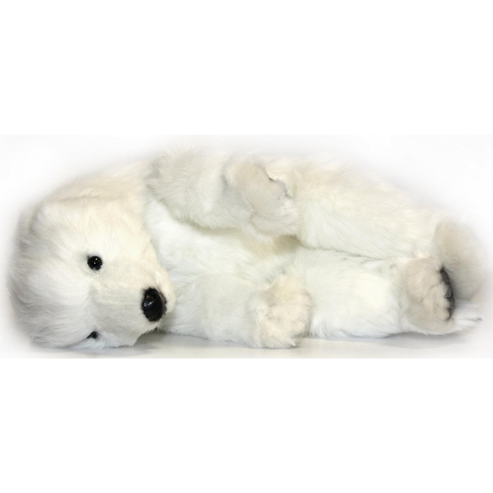 Детеныш полярного медведя, спящий, 30 смДетеныш полярного медведя, 30 см – игрушка от знаменитого бренда Hansa, специализирующегося на выпуске мягких игрушек с высокой степенью натуралистичности. Внешний вид игрушечного медвежонка полностью соответствует реальному прототипу. Он выполнен из искусственного белого меха с коротким ворсом. Использованные материалы обладают гипоаллергенными свойствами. Внутри игрушки имеется металлический каркас, позволяющий изменять положение. <br>Игрушка относится к серии Дикие животные. <br>Мягкие игрушки от Hansa подходят для сюжетно-ролевых игр, для обучающих игр, направленных на знакомство с животным миром дикой природы. Кроме того, их можно использовать в качестве интерьерных игрушек. Коллекция из нескольких игрушек позволяет создать свой домашний зоопарк, который будет радовать вашего ребенка долгое время, так как ручная работа и качественные материалы гарантируют их долговечность и прочность.<br><br>Дополнительная информация:<br><br>- Вид игр: сюжетно-ролевые игры, коллекционирование, интерьерные игрушки<br>- Предназначение: для дома, для детских развивающих центров, для детских садов<br>- Материал: искусственный мех, наполнитель ? полиэфирное волокно<br>- Размер (ДхШхВ): 30*9*25 см<br>- Вес: 580 г<br>- Особенности ухода: сухая чистка при помощи пылесоса или щетки для одежды<br><br>Подробнее:<br><br>• Для детей в возрасте: от 3 лет <br>• Страна производитель: Филиппины<br>• Торговый бренд: Hansa<br><br>Детеныша полярного медведя, 30 см можно купить в нашем интернет-магазине.<br><br>Ширина мм: 30<br>Глубина мм: 9<br>Высота мм: 25<br>Вес г: 580<br>Возраст от месяцев: 36<br>Возраст до месяцев: 2147483647<br>Пол: Унисекс<br>Возраст: Детский<br>SKU: 4927206