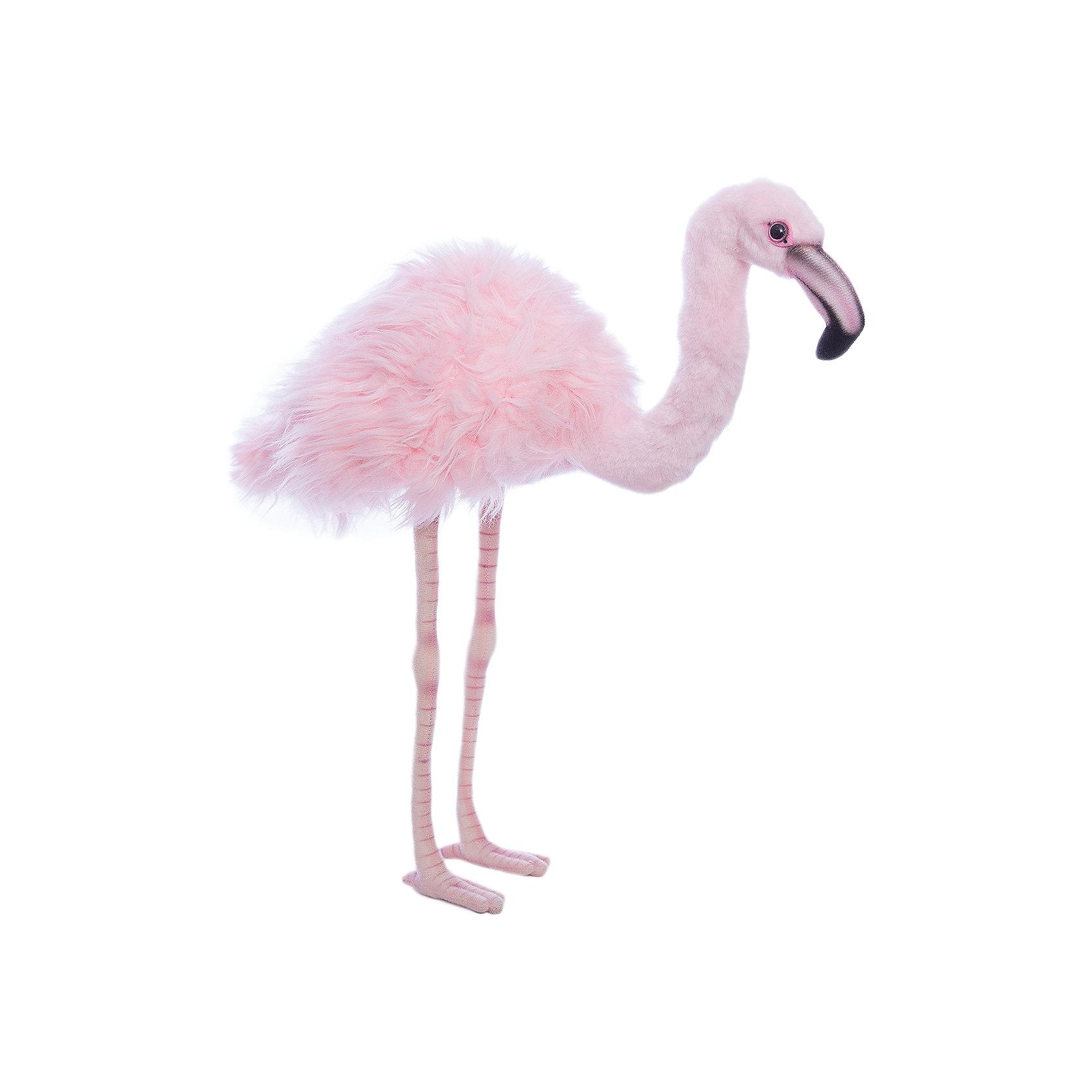 Розовый фламинго, 38 смЗвери и птицы<br>Розовый фламинго, 38 см – игрушка от знаменитого бренда Hansa, специализирующегося на выпуске мягких игрушек с высокой степенью натуралистичности. Внешний игрушки полностью соответствует реальному прототипу – розовому фламинго. Игрушка выполнена из розового меха с ворсом разной длины: короткий мех на голове и шее, длинный – на туловище. Все материалы обладают гипоаллергенными свойствами. У лисицы большие ушки и пушистый хвост. Внутри имеется металлический каркас, который позволяет изменять положение. Игрушка относится к серии Дикие животные. <br>Мягкие игрушки от Hansa подходят для сюжетно-ролевых игр или для обучающих игр. Кроме того, их можно использовать в качестве интерьерных игрушек. Игрушки от Hansa будут радовать вашего ребенка долгое время, так как ручная работа и качественные материалы гарантируют их долговечность и прочность.<br><br>Дополнительная информация:<br><br>- Вид игр: сюжетно-ролевые игры, коллекционирование, интерьерные игрушки<br>- Предназначение: для дома, для детских развивающих центров, для детских садов<br>- Материал: искусственный мех, пластик, наполнитель ? полиэфирное волокно<br>- Размер (ДхШхВ): 38*33*14 см<br>- Вес: 340 г<br>- Особенности ухода: сухая чистка при помощи пылесоса или щетки для одежды<br><br>Подробнее:<br><br>• Для детей в возрасте: от 3 лет <br>• Страна производитель: Филиппины<br>• Торговый бренд: Hansa<br><br>Розового фламинго, 38 см можно купить в нашем интернет-магазине.<br><br>Ширина мм: 32<br>Глубина мм: 33<br>Высота мм: 14<br>Вес г: 340<br>Возраст от месяцев: 36<br>Возраст до месяцев: 2147483647<br>Пол: Унисекс<br>Возраст: Детский<br>SKU: 4927214