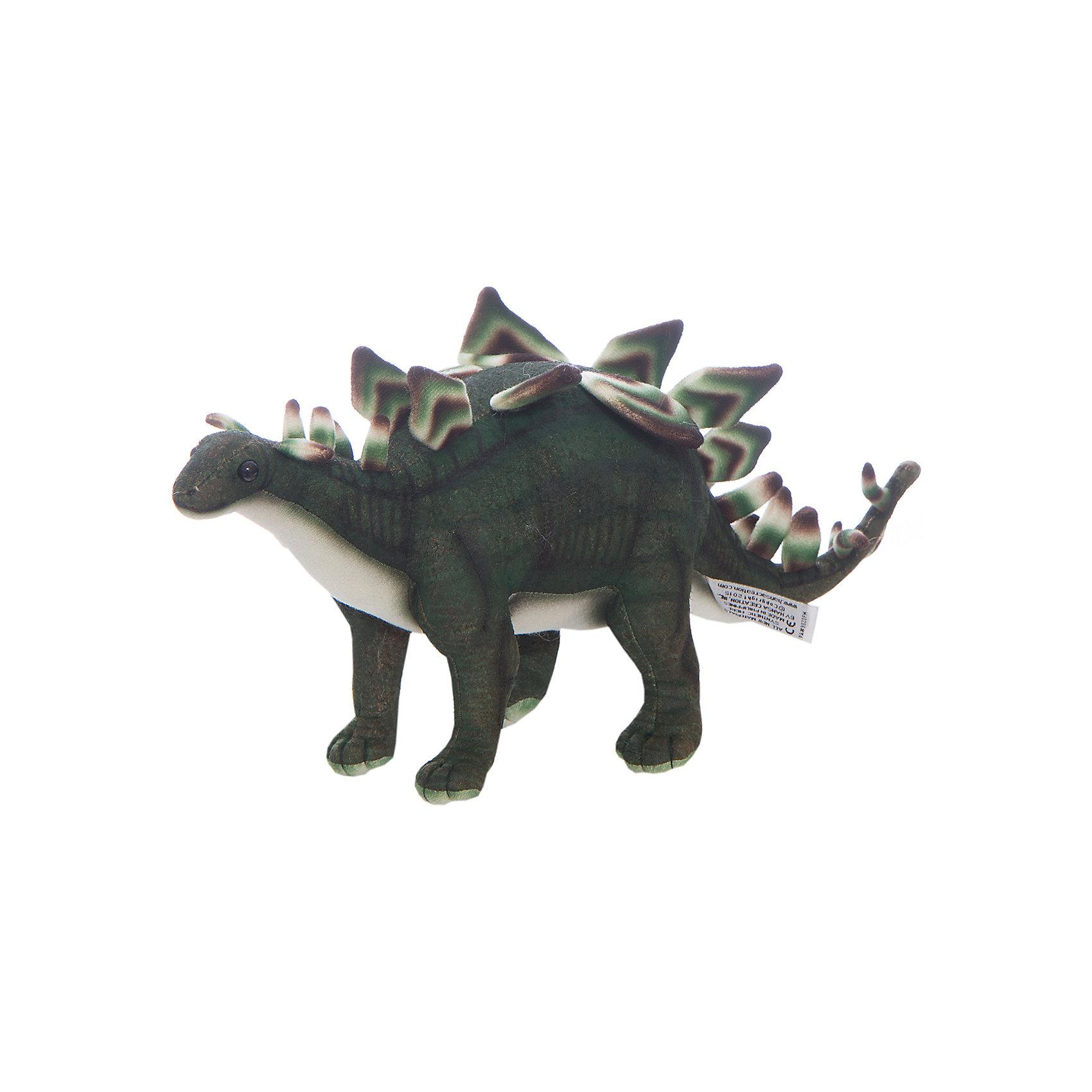 Стегозавр, 42 смМягкие игрушки животные<br>Стегозавр, 42 см – игрушка от знаменитого бренда Hansa, специализирующегося на выпуске мягких игрушек с высокой степенью натуралистичности. Внешний вид игрушечного стегозавра полностью соответствует восстановленому облику крышеящера, обитавшего в поздний юрский период. Игрушка выполнена из текстиля, который окрашен в оттенки, характерные для облика стегозавтра: коричнево-зеленая спина и горизонтадбные темно-зеленые полоски. Вдоль спины и хвоста – яркий гребень. Использованные материалы обладают гипоаллергенными свойствами. Внутри игрушки имеется металлический каркас, позволяющий изменять положение. <br>Игрушка относится к серии Доисторические животные. <br>Мягкие игрушки от Hansa подходят для сюжетно-ролевых игр, для обучающих игр, направленных на знакомство с животным миром дикой природы. Кроме того, их можно использовать в качестве интерьерных игрушек. Коллекция из нескольких игрушек позволяет воссоздать доисторическую эпоху. Игрушки от Hansa, будут радовать вашего ребенка долгое время, так как ручная работа и качественные материалы гарантируют их долговечность и прочность.<br><br>Дополнительная информация:<br><br>- Вид игр: сюжетно-ролевые игры, коллекционирование, интерьерные игрушки<br>- Предназначение: для дома, для детских развивающих центров, для детских садов<br>- Материал: текстиль, наполнитель ? полиэфирное волокно<br>- Размер (ДхШхВ): 42*19*8 см<br>- Вес: 1 кг 200 г<br>- Особенности ухода: сухая чистка при помощи пылесоса или щетки для одежды<br><br>Подробнее:<br><br>• Для детей в возрасте: от 3 лет <br>• Страна производитель: Филиппины<br>• Торговый бренд: Hansa<br><br>Стегозавра, 42 см можно купить в нашем интернет-магазине.<br><br>Ширина мм: 42<br>Глубина мм: 19<br>Высота мм: 8<br>Вес г: 1200<br>Возраст от месяцев: 36<br>Возраст до месяцев: 2147483647<br>Пол: Унисекс<br>Возраст: Детский<br>SKU: 4927220