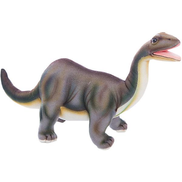 Бронтозавр, 45 смМягкие игрушки животные<br>Бронтозавр, 45 см – игрушка от знаменитого бренда Hansa, специализирующегося на выпуске мягких игрушек с высокой степенью натуралистичности. Внешний вид игрушечного бронтозавра полностью соответствует восстановленому облику динозавра, обитавшего в юрский период. Игрушка выполнена из текстиля, который окрашен в оттенки, характерные для облика бронтозавтра: коричнево-зеленая спина и желтоватых оттенков нижняя часть туловища. Использованные материалы обладают гипоаллергенными свойствами. Внутри игрушки имеется металлический каркас, позволяющий изменять положение. <br>Игрушка относится к серии Доисторические животные. <br>Мягкие игрушки от Hansa подходят для сюжетно-ролевых игр, для обучающих игр, направленных на знакомство с животным миром дикой природы. Кроме того, их можно использовать в качестве интерьерных игрушек. Коллекция из нескольких игрушек позволяет воссоздать доисторическую эпоху. Игрушки от Hansa, будут радовать вашего ребенка долгое время, так как ручная работа и качественные материалы гарантируют их долговечность и прочность.<br><br>Дополнительная информация:<br><br>- Вид игр: сюжетно-ролевые игры, коллекционирование, интерьерные игрушки<br>- Предназначение: для дома, для детских развивающих центров, для детских садов<br>- Материал: текстиль, наполнитель ? полиэфирное волокно<br>- Размер (ДхШхВ): 45*19*9 см<br>- Вес: 1 кг 200 г<br>- Особенности ухода: сухая чистка при помощи пылесоса или щетки для одежды<br><br>Подробнее:<br><br>• Для детей в возрасте: от 3 лет <br>• Страна производитель: Филиппины<br>• Торговый бренд: Hansa<br><br>Бронтозавра, 45 см можно купить в нашем интернет-магазине.<br><br>Ширина мм: 45<br>Глубина мм: 19<br>Высота мм: 9<br>Вес г: 1200<br>Возраст от месяцев: 36<br>Возраст до месяцев: 2147483647<br>Пол: Унисекс<br>Возраст: Детский<br>SKU: 4927221