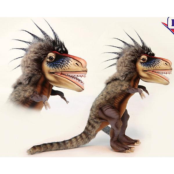 Динозавр Ти-рексМягкие игрушки животные<br>Динозавр Ти-рекс  – игрушка от знаменитого бренда Hansa, специализирующегося на выпуске мягких игрушек с высокой степенью натуралистичности. Внешний вид игрушечного динозавра полностью соответствует восстановленому облику ящера, обитавшего в юрский период. Игрушка выполнена из текстиля, который окрашен в оттенки, характерные для облика Ти-рекса: коричневая пестрая спина в полоску с длинными ворсом на голове. Использованные материалы обладают гипоаллергенными свойствами. Внутри игрушки имеется металлический каркас, позволяющий изменять положение. <br>Игрушка относится к серии Доисторические животные. <br>Мягкие игрушки от Hansa подходят для сюжетно-ролевых игр, для обучающих игр, направленных на знакомство с животным миром дикой природы. Кроме того, их можно использовать в качестве интерьерных игрушек. Коллекция из нескольких игрушек позволяет воссоздать доисторическую эпоху. Игрушки от Hansa, будут радовать вашего ребенка долгое время, так как ручная работа и качественные материалы гарантируют их долговечность и прочность.<br><br>Дополнительная информация:<br><br>- Вид игр: сюжетно-ролевые игры, коллекционирование, интерьерные игрушки<br>- Предназначение: для дома, для детских развивающих центров, для детских садов<br>- Материал: текстиль, искусственный мех, пластик, наполнитель ? полиэфирное волокно<br>- Размер (ДхШхВ): 28*14*42 см<br>- Вес: 600 г<br>- Особенности ухода: сухая чистка при помощи пылесоса или щетки для одежды<br><br>Подробнее:<br><br>• Для детей в возрасте: от 3 лет <br>• Страна производитель: Филиппины<br>• Торговый бренд: Hansa<br><br>Динозавра Ти-рекс можно купить в нашем интернет-магазине.<br>Ширина мм: 28; Глубина мм: 14; Высота мм: 42; Вес г: 600; Возраст от месяцев: 36; Возраст до месяцев: 2147483647; Пол: Унисекс; Возраст: Детский; SKU: 4927225;