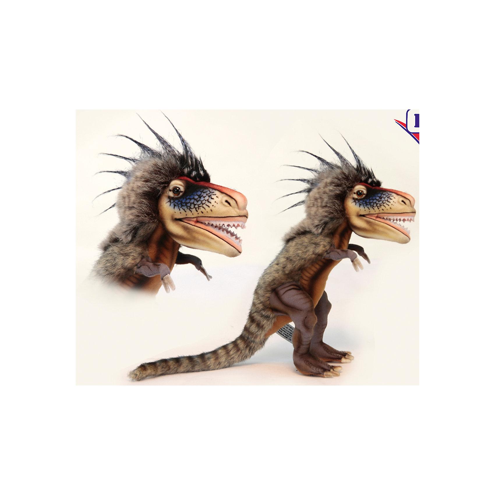 Динозавр Ти-рексДинозавр Ти-рекс  – игрушка от знаменитого бренда Hansa, специализирующегося на выпуске мягких игрушек с высокой степенью натуралистичности. Внешний вид игрушечного динозавра полностью соответствует восстановленому облику ящера, обитавшего в юрский период. Игрушка выполнена из текстиля, который окрашен в оттенки, характерные для облика Ти-рекса: коричневая пестрая спина в полоску с длинными ворсом на голове. Использованные материалы обладают гипоаллергенными свойствами. Внутри игрушки имеется металлический каркас, позволяющий изменять положение. <br>Игрушка относится к серии Доисторические животные. <br>Мягкие игрушки от Hansa подходят для сюжетно-ролевых игр, для обучающих игр, направленных на знакомство с животным миром дикой природы. Кроме того, их можно использовать в качестве интерьерных игрушек. Коллекция из нескольких игрушек позволяет воссоздать доисторическую эпоху. Игрушки от Hansa, будут радовать вашего ребенка долгое время, так как ручная работа и качественные материалы гарантируют их долговечность и прочность.<br><br>Дополнительная информация:<br><br>- Вид игр: сюжетно-ролевые игры, коллекционирование, интерьерные игрушки<br>- Предназначение: для дома, для детских развивающих центров, для детских садов<br>- Материал: текстиль, искусственный мех, пластик, наполнитель ? полиэфирное волокно<br>- Размер (ДхШхВ): 28*14*42 см<br>- Вес: 600 г<br>- Особенности ухода: сухая чистка при помощи пылесоса или щетки для одежды<br><br>Подробнее:<br><br>• Для детей в возрасте: от 3 лет <br>• Страна производитель: Филиппины<br>• Торговый бренд: Hansa<br><br>Динозавра Ти-рекс можно купить в нашем интернет-магазине.<br><br>Ширина мм: 28<br>Глубина мм: 14<br>Высота мм: 42<br>Вес г: 600<br>Возраст от месяцев: 36<br>Возраст до месяцев: 2147483647<br>Пол: Унисекс<br>Возраст: Детский<br>SKU: 4927225