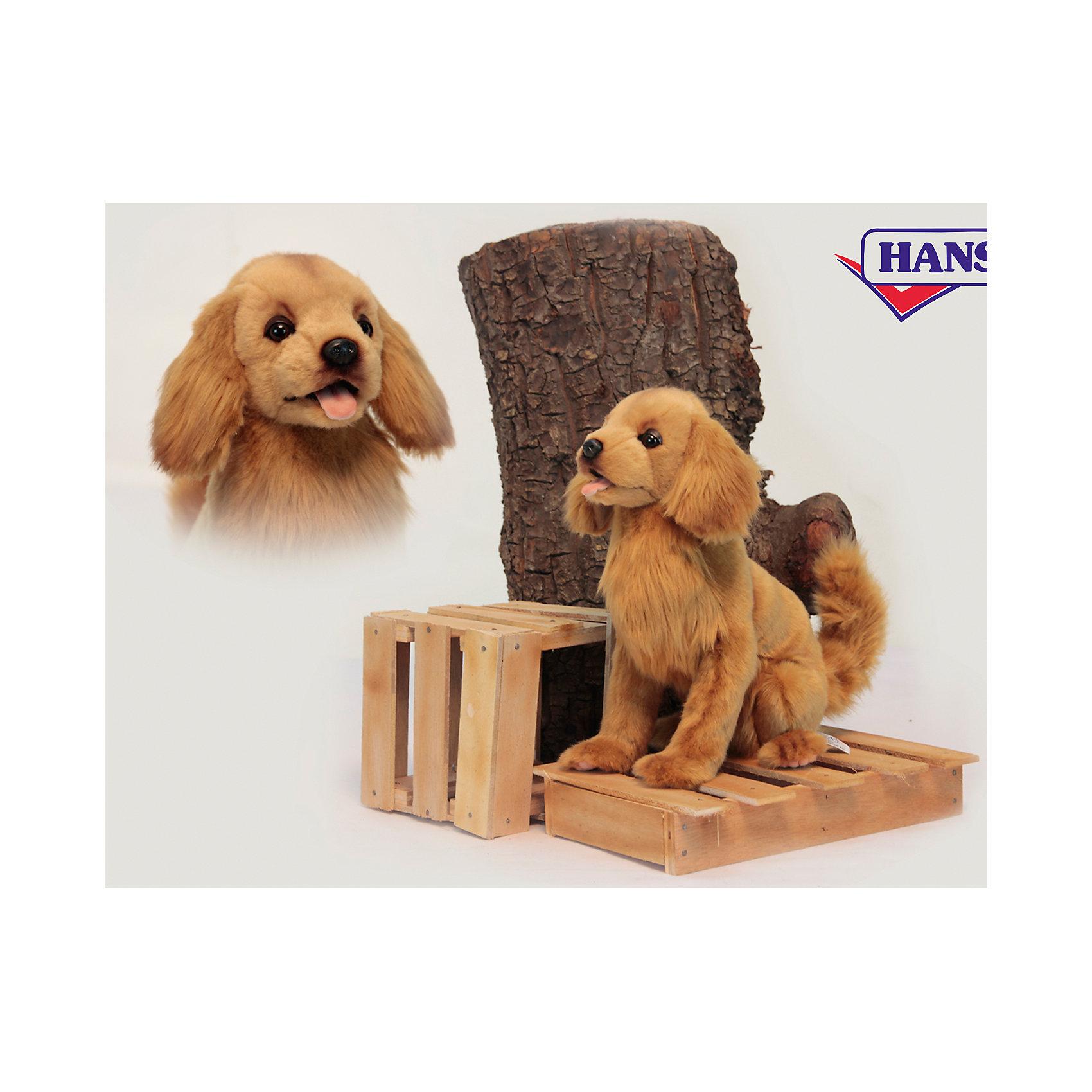 Hansa Золотистый ретривер (коричневый), 28 см мягкие игрушки hansa пони шоколадно коричневый 36 см