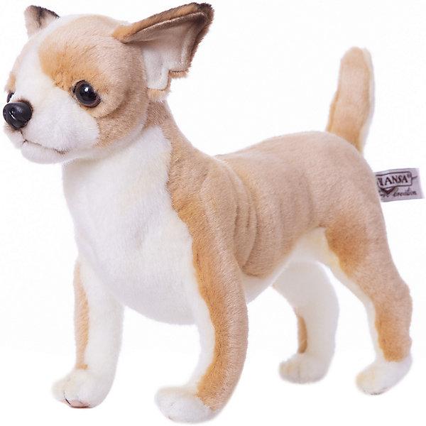 Чихуахуа, 27 смМягкие игрушки животные<br>Чихуахуа, 27 см – игрушка от знаменитого бренда Hansa, специализирующегося на выпуске мягких игрушек с высокой степенью натуралистичности. Внешний вид игрушечной собаки полностью соответствует своему реальному прототипу – собаке породы Чихуахуа. Она выполнена из искусственного меха светло-коричневого цвета с коротким ворсом, грудка и внутренняя часть лапок – из белого меха. Использованные материалы обладают гипоаллергенными свойствами. Внутри игрушки имеется металлический каркас, позволяющий изменять положение. <br>Игрушка относится к серии Домашние животные. <br>Мягкие игрушки от Hansa подходят для сюжетно-ролевых игр, для обучающих игр, направленных на знакомство с миром живой природы. Кроме того, их можно использовать в качестве интерьерных игрушек. Представленные у торгового бренда разнообразие игрушечных собак позволяет собрать свою коллекцию пород, которая будет радовать вашего ребенка долгое время, так как ручная работа и качественные материалы гарантируют их долговечность и прочность.<br><br>Дополнительная информация:<br><br>- Вид игр: сюжетно-ролевые игры, коллекционирование, интерьерные игрушки<br>- Предназначение: для дома, для детских развивающих центров, для детских садов<br>- Материал: искусственный мех, наполнитель ? полиэфирное волокно<br>- Размер (ДхШхВ): 27*24*11 см<br>- Вес: 900 г<br>- Особенности ухода: сухая чистка при помощи пылесоса или щетки для одежды<br><br>Подробнее:<br><br>• Для детей в возрасте: от 3 лет <br>• Страна производитель: Филиппины<br>• Торговый бренд: Hansa<br><br>Чихуахуа, 27 см можно купить в нашем интернет-магазине.<br>Ширина мм: 27; Глубина мм: 24; Высота мм: 11; Вес г: 900; Возраст от месяцев: 36; Возраст до месяцев: 2147483647; Пол: Унисекс; Возраст: Детский; SKU: 4927228;
