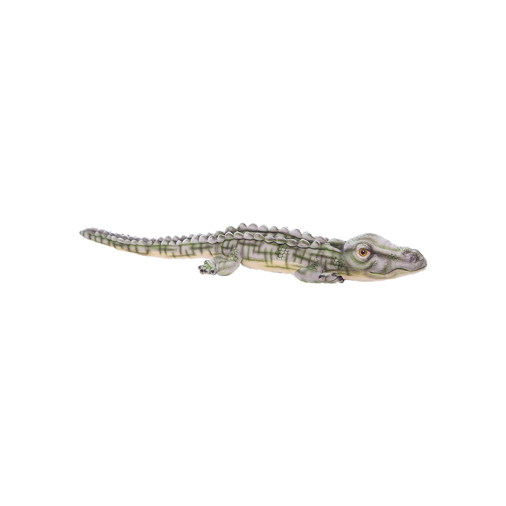 Крокодил гребнистый (морской), 70 смКрокодил гребнистый (морской), 70 см – игрушка от знаменитого бренда Hansa, специализирующегося на выпуске мягких игрушек с высокой степенью натуралистичности. Внешний вид игрушки полностью соответствует своему реальному прототипу – морскому крокодилу. Он выполнен из искусственного меха с коротким ворсом, окрашенного с учетом особенностей облика этого хищника. Использованные материалы обладают гипоаллергенными свойствами. Внутри игрушки имеется металлический каркас, позволяющий изменять положение. <br>Игрушка относится к серии Дикие животные. <br>Мягкие игрушки от Hansa подходят для сюжетно-ролевых игр, для обучающих игр, направленных на знакомство с животным миром дикой природы. Кроме того, их можно использовать в качестве интерьерных игрушек. Коллекция из нескольких игрушек позволяет создать свой домашний зоопарк, который будет радовать вашего ребенка долгое время, так как ручная работа и качественные материалы гарантируют их долговечность и прочность.<br><br>Дополнительная информация:<br><br>- Вид игр: сюжетно-ролевые игры, коллекционирование, интерьерные игрушки<br>- Предназначение: для дома, для детских развивающих центров, для детских садов<br>- Материал: искусственный мех, наполнитель ? полиэфирное волокно<br>- Размер (ДхШхВ): 9*15*70 см<br>- Вес: 360 г<br>- Особенности ухода: сухая чистка при помощи пылесоса или щетки для одежды<br><br>Подробнее:<br><br>• Для детей в возрасте: от 3 лет <br>• Страна производитель: Филиппины<br>• Торговый бренд: Hansa<br><br>Крокодила гребнистого (морского), 70 см можно купить в нашем интернет-магазине.<br><br>Ширина мм: 9<br>Глубина мм: 15<br>Высота мм: 70<br>Вес г: 360<br>Возраст от месяцев: 36<br>Возраст до месяцев: 2147483647<br>Пол: Унисекс<br>Возраст: Детский<br>SKU: 4927232