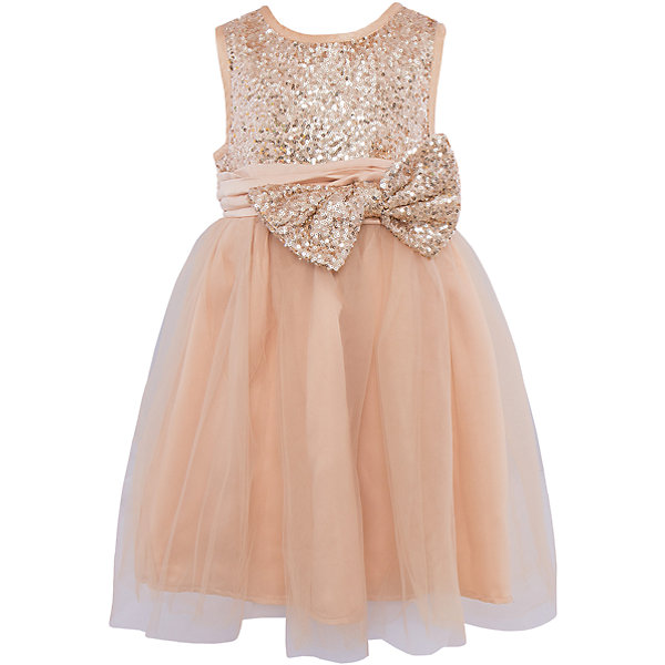 Нарядное платье Sweet BerryОдежда<br>Яркое золотистое платье для девочки торговой марки Sweet Berry станет отличным дополнением к гардеробу маленькой  модницы. Платье изготовлено из полиэстера на подкладке из натурального хлопка, оно мягкое и приятное на ощупь, не сковывает движения и позволяет коже дышать, не раздражает нежную и чувствительную кожу ребенка, обеспечивая  комфорт при носке. Платье с круглым вырезом горловины имеет слегка завышенную линию талии. Модель на спинке застегивается на молнию, что помогает с легкостью переодеть ребенка. Верхняя часть объемной многослойной юбки выполнена из мягкой микросетки.  Верх платья расшит пайетками по всей поверхности. На поясе изделие дополнено съемным бантом, который также украшен пайетками. Такое красивое и яркое платье идеально подойдет для праздничных мероприятий. В нем Ваша девочка будет чувствовать себя стильно и модно, и всегда будет в центре внимания!<br>Инструкция по уходу: бережная стирка в прохладной воде при максимальной температуре 30°С, не отбеливать, гладить при низкой температуре, химчистка запрещена, не сушить в центрифуге.<br><br> Дополнительная информация:<br><br>- комплектация: платье<br>- вид застежки: молния<br>- особенности платья: пышное <br>- цвет: золотистый <br>- материал верх: полиэстер 100% <br>- материал подкладки: хлопок: 100%<br>- назначение: Новый Год<br>- сезон: демисезон<br>- пол: девочки<br><br>Платье торговой марки Sweet Berry  можно купить в нашем интернет-магазине<br><br>Ширина мм: 236<br>Глубина мм: 16<br>Высота мм: 184<br>Вес г: 177<br>Цвет: золотой<br>Возраст от месяцев: 24<br>Возраст до месяцев: 36<br>Пол: Женский<br>Возраст: Детский<br>Размер: 98,128,122,116,110,104<br>SKU: 4927715