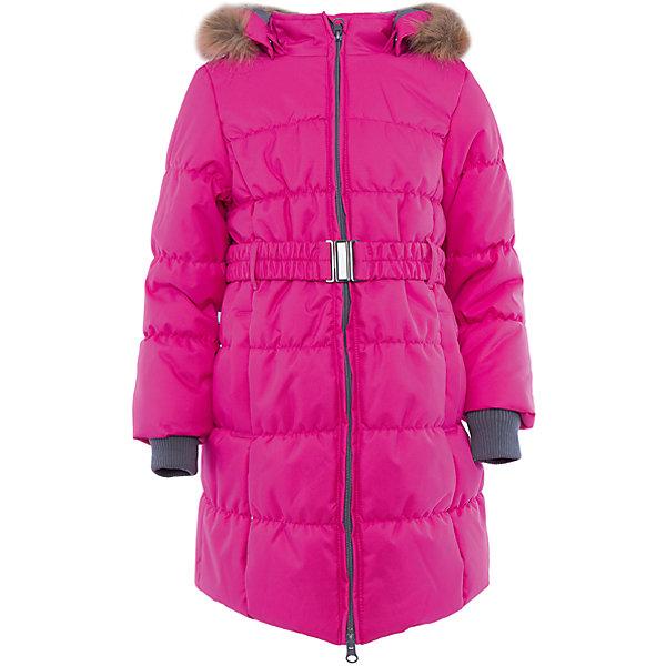 Пальто Huppa Yacaranda для девочкиВерхняя одежда<br>Характеристики товара:<br><br>• модель: Yacaranda;<br>• цвет: фуксия;<br>• состав: 100% полиэстер; <br>• подкладка: 100% полиэстер, тафта, флис;<br>• утеплитель: 300 г/м2, 100% полиэстер;<br>• сезон: зима;<br>• температурный режим: от -5 до - 30С;<br>• водонепроницаемость: 10000 мм ;<br>• воздухопроницаемость:10000 г/м2/24ч;<br>• особенности модели: с мехом на капюшоне;<br>• трикотажные манжеты;<br>• безопасный съемный капюшон на кнопках;<br>• искусственный мех на капюшоне не съемный;<br>• защита подбородка от защемления;<br>• светоотражающие элементы для безопасности ребенка;<br>• страна бренда: Эстония;<br>• страна изготовитель: Эстония.<br><br>Теплое зимнее пальто для девочек. Это универсальная недорогая модель подойдет как для школы, так и для долгих зимних прогулок. Современный утеплитель HuppaTherm отлично греет даже при очень низких температурах, а высококачественная мембрана не пропускает влагу, ветер и снег.<br>Приталенный силуэт подчеркнут поясом на застежке. На рукавах есть внутренние манжеты из трикотажа, которые плотно облегают запястья для дополнительного тепла и защиты от продувания. Капюшон на кнопках дополнен опушкой из искусственного меха.<br>Функциональные элементы: капюшон отстегивается с помощью кнопок, мех не отстегивается, защита подбородка от защемления, карманы без застежек, трикотажные манжеты, светоотражающие элементы.<br><br>Пальто Yacaranda от бренда Huppa (Хуппа) можно купить в нашем интернет-магазине.<br>Ширина мм: 356; Глубина мм: 10; Высота мм: 245; Вес г: 519; Цвет: розовый; Возраст от месяцев: 48; Возраст до месяцев: 60; Пол: Женский; Возраст: Детский; Размер: 128,122,116,104,110,170,164,158,152,146,140,134; SKU: 4928048;
