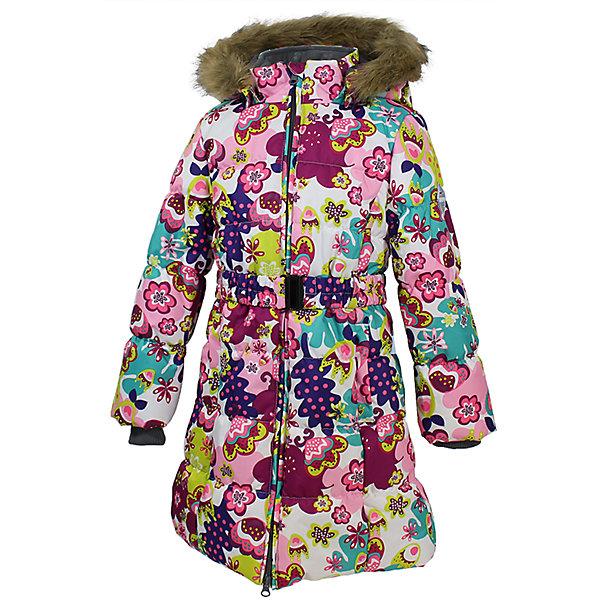 Пальто Yacaranda для девочки HuppaВерхняя одежда<br>Пальто YACARANDA Huppa(Хуппа).<br><br>Утеплитель: 100% полиэстер, 300 гр.<br><br>Температурный режим: до -30 градусов. Степень утепления – высокая. <br><br>* Температурный режим указан приблизительно — необходимо, прежде всего, ориентироваться на ощущения ребенка. Температурный режим работает в случае соблюдения правила многослойности – использования флисовой поддевы и термобелья.<br><br>Идеально подойдет девочке в холодную погоду. Пальто имеет приталенный силуэт, внутренние вязаные манжеты, двойную молнию и большой отстегивающийся капюшон с искусственным мехом. Водонепроницаемая поверхность в сочетании с утеплителем помогут девочке оставаться в тепле и сухости в течение всей прогулки. Пальто легко стирается и быстро сохнет. Все ткани очень прочные и защищены от истирания. Прекрасно подойдет для зимы.<br><br>Дополнительная информация:<br>Материал: 100% полиэстер<br>Подкладка: тафта - 100: полиэстер, флис - 100% полиэстер<br>Цвет: белый/розовый<br><br>Вы можете приобрести пальто YACARANDA Huppa(Хуппа) в нашем интернет-магазине.<br><br>Ширина мм: 356<br>Глубина мм: 10<br>Высота мм: 245<br>Вес г: 519<br>Цвет: фиолетово-розовый<br>Возраст от месяцев: 36<br>Возраст до месяцев: 48<br>Пол: Женский<br>Возраст: Детский<br>Размер: 104,158,152,146,140,134,128,122,116,110<br>SKU: 4928074
