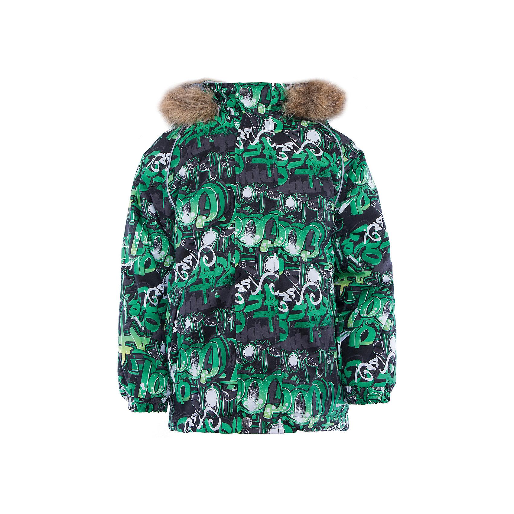 Куртка   для мальчика HuppaКуртка для мальчика MARINEL Huppa(Хуппа).<br><br>Утеплитель: 100% полиэстер, 300 гр.<br><br>Температурный режим: до -30 градусов. Степень утепления – высокая. <br><br>* Температурный режим указан приблизительно — необходимо, прежде всего, ориентироваться на ощущения ребенка. Температурный режим работает в случае соблюдения правила многослойности – использования флисовой поддевы и термобелья.<br><br>Изготовлена из теплых и прочных материалов. Верх куртки с дышащей водоотталкивающей поверхностью поможет ребенку оставаться в сухости и тепле. На манжетах предусмотрены резинки, чтобы снег не попадал под одежду. Капюшон куртки с искусственным мехом отстегивается. <br>Куртка легко стирается, быстро сохнет и защищена от истирания. Отлично подойдет для зимних прогулок.<br><br>Дополнительная информация:<br>Материал: 100% полиэстер<br>Подкладка: тафта - 100% полиэстер, флис - 100% полиэстер<br>Цвет: зеленый/черный<br><br>Куртку MARINEL Huppa(Хуппа) можно купить в нашем интернет-магазине.<br><br>Ширина мм: 356<br>Глубина мм: 10<br>Высота мм: 245<br>Вес г: 519<br>Цвет: зеленый<br>Возраст от месяцев: 24<br>Возраст до месяцев: 36<br>Пол: Мужской<br>Возраст: Детский<br>Размер: 98,92,140,134,128,122,116,110,104<br>SKU: 4928137