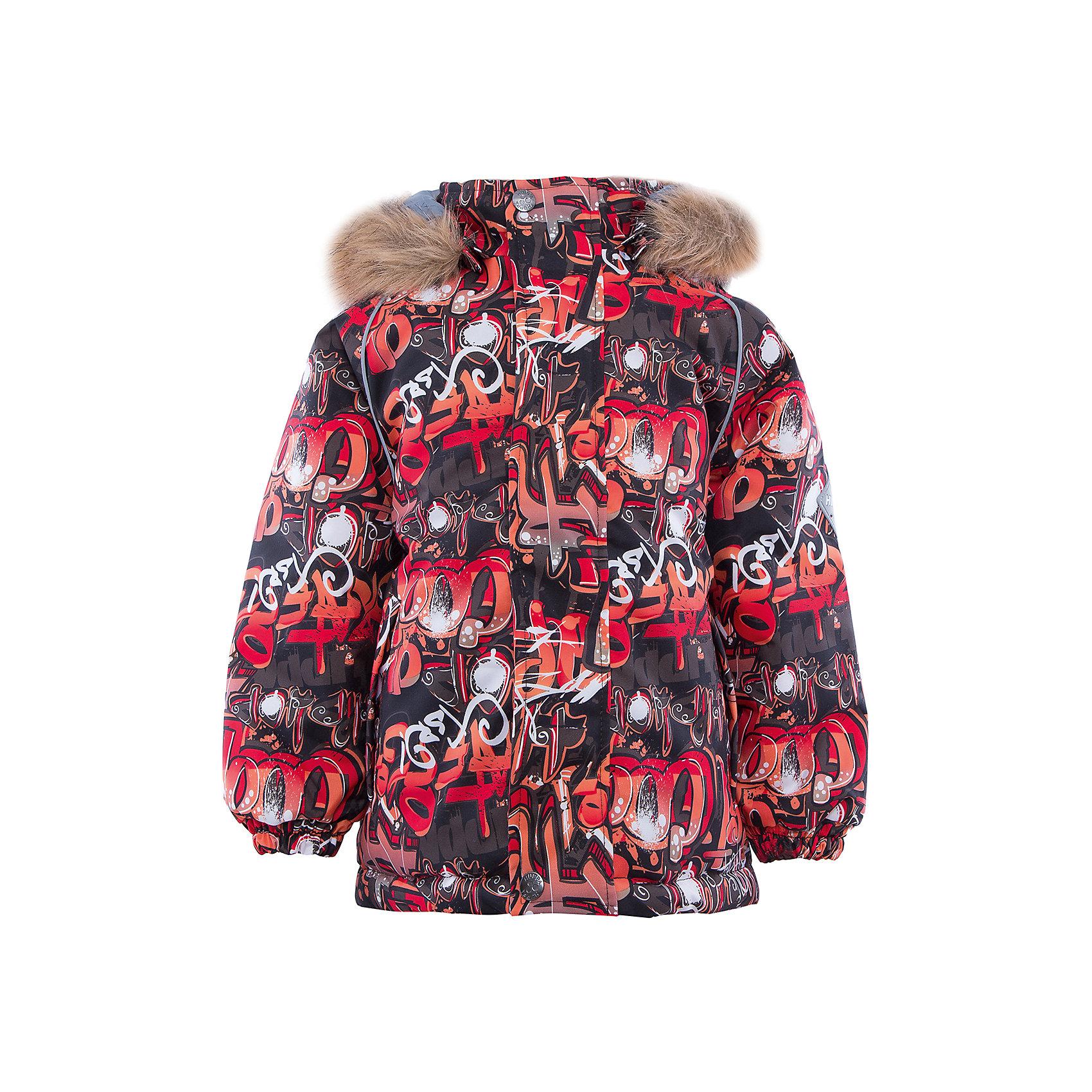 Куртка   для мальчика HuppaКуртка для мальчика MARINEL Huppa(Хуппа).<br><br>Утеплитель: 100% полиэстер, 300 гр.<br><br>Температурный режим: до -30 градусов. Степень утепления – высокая. <br><br>* Температурный режим указан приблизительно — необходимо, прежде всего, ориентироваться на ощущения ребенка. Температурный режим работает в случае соблюдения правила многослойности – использования флисовой поддевы и термобелья.<br><br>Изготовлена из теплых и прочных материалов. Верх куртки с дышащей водоотталкивающей поверхностью поможет ребенку оставаться в сухости и тепле. На манжетах предусмотрены резинки, чтобы снег не попадал под одежду. Капюшон куртки с искусственным мехом отстегивается. <br>Куртка легко стирается, быстро сохнет и защищена от истирания. Отлично подойдет для зимних прогулок.<br><br>Дополнительная информация:<br>Материал: 100% полиэстер<br>Подкладка: тафта - 100% полиэстер, флис - 100% полиэстер<br>Цвет: красный/серый<br><br>Куртку MARINEL Huppa(Хуппа) можно купить в нашем интернет-магазине.<br><br>Ширина мм: 356<br>Глубина мм: 10<br>Высота мм: 245<br>Вес г: 519<br>Цвет: коричневый<br>Возраст от месяцев: 24<br>Возраст до месяцев: 36<br>Пол: Мужской<br>Возраст: Детский<br>Размер: 98,92,140,134,128,122,116,110,104<br>SKU: 4928157