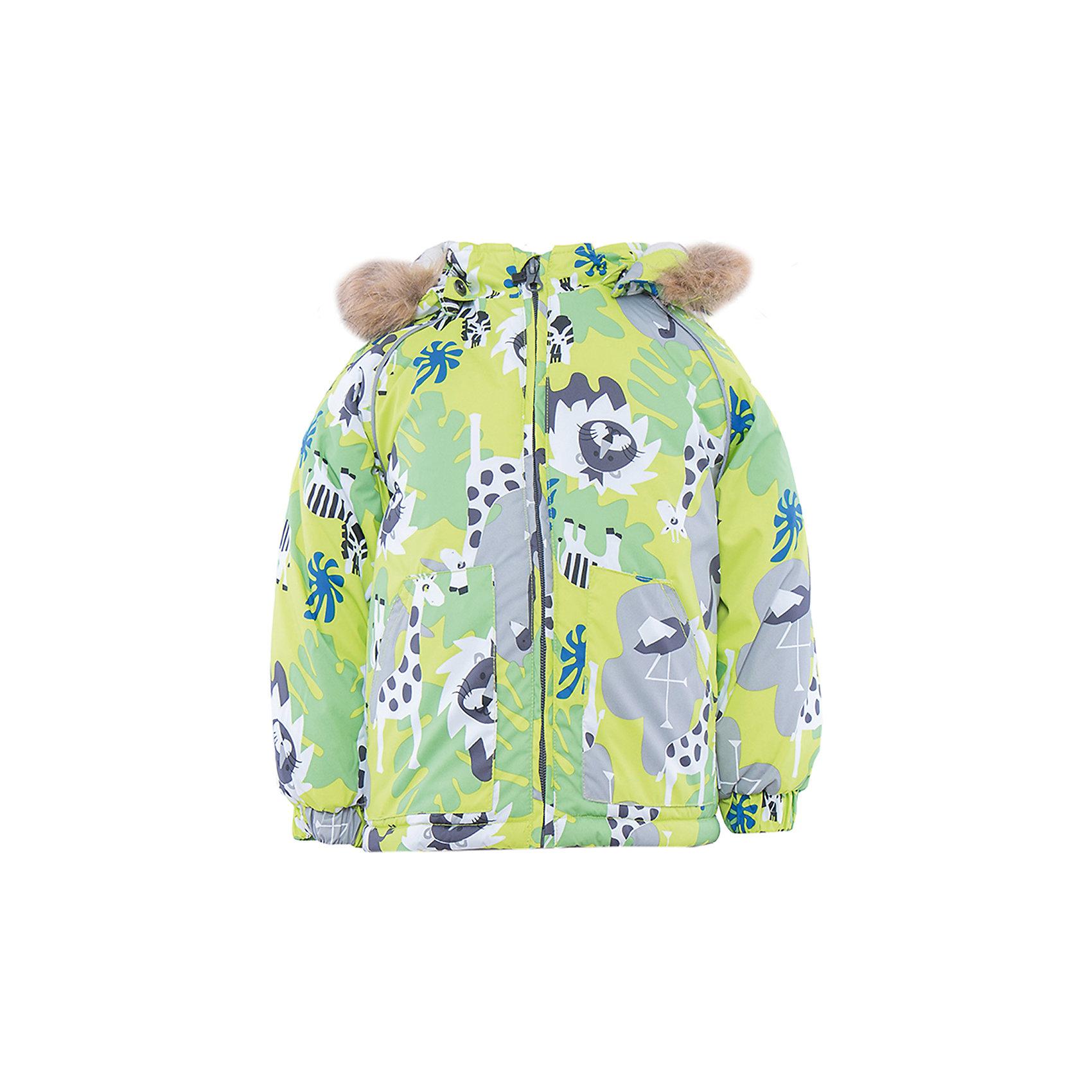 Куртка    HuppaЯркая зимняя куртка с необычным дизайном VIRGO Huppa(Хуппа) изготовлена из качественных и прочных материалов. Резинки на рукавах помогут избежать попадания снега под одежду. Специальная мембрана не даст воде и холодному воздуху проникнуть под одежду и поможет избавиться от лишней влаги, выделяемой телом. Мягкая подкладка из фланели отлично позаботится о чувствительной коже крохи и не вызовет раздражения. Модель имеет отстегивающийся капюшон, вместительные карманы и светоотражающие элементы. В этой куртке есть все, что нужно для хорошего настроения во время зимних прогулок!<br><br>Дополнительная информация:<br>Материал: 100% полиэстер<br>Цвет: салатовый<br><br>Куртку VIRGO Huppa(Хуппа) вы можете приобрести в нашем интернет-магазине.<br><br>Ширина мм: 356<br>Глубина мм: 10<br>Высота мм: 245<br>Вес г: 519<br>Цвет: зеленый<br>Возраст от месяцев: 12<br>Возраст до месяцев: 15<br>Пол: Унисекс<br>Возраст: Детский<br>Размер: 80,104,98,92,86<br>SKU: 4928173