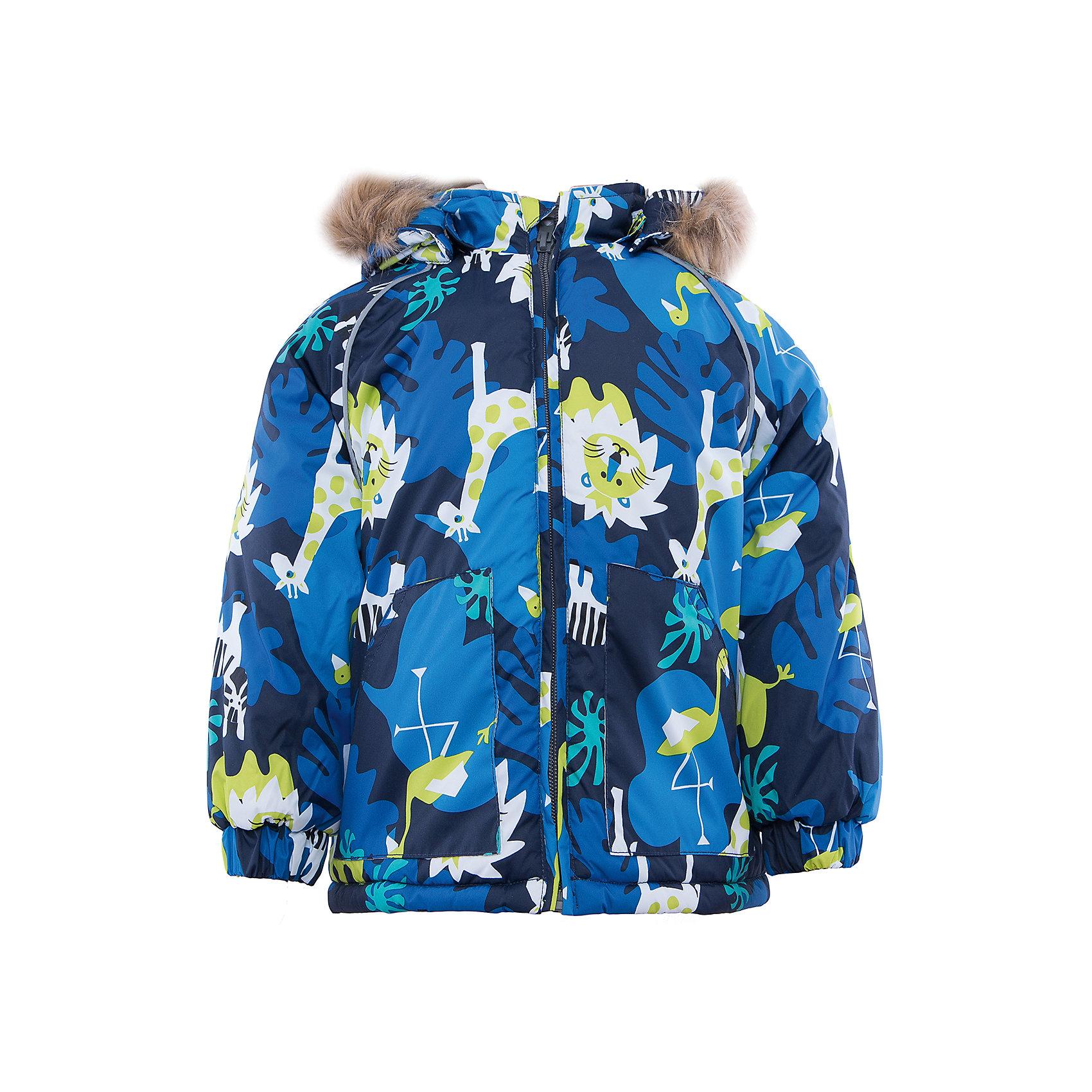 Куртка    HuppaЯркая зимняя куртка с необычным дизайном VIRGO Huppa(Хуппа).<br><br>Утеплитель: 100% полиэстер, 300 гр.<br><br>Температурный режим: до -30 градусов. Степень утепления – высокая. <br><br>* Температурный режим указан приблизительно — необходимо, прежде всего, ориентироваться на ощущения ребенка. Температурный режим работает в случае соблюдения правила многослойности – использования флисовой поддевы и термобелья.<br><br>Изготовлена из качественных и прочных материалов, с учетом особенностей нежной кожи ребенка. Резинки на рукавах помогут избежать попадания снега под одежду. Специальная мембрана не даст воде и холодному воздуху проникнуть под одежду и поможет избавиться от лишней влаги, выделяемой телом. Мягкая подкладка из фланели отлично позаботится о чувствительной коже крохи и не вызовет раздражения. Модель имеет отстегивающийся капюшон, вместительные карманы и светоотражающие элементы. В этой куртке есть все, что нужно для хорошего настроения во время зимних прогулок!<br><br>Дополнительная информация:<br>Материал: 100% полиэстер<br>Подкладка: фланель - 100% хлопок<br>Цвет: синий/темно-синий<br><br>Куртку VIRGO Huppa(Хуппа) вы можете приобрести в нашем интернет-магазине.<br><br>Ширина мм: 356<br>Глубина мм: 10<br>Высота мм: 245<br>Вес г: 519<br>Цвет: синий<br>Возраст от месяцев: 18<br>Возраст до месяцев: 24<br>Пол: Мужской<br>Возраст: Детский<br>Размер: 92,86,80,104,98<br>SKU: 4928185