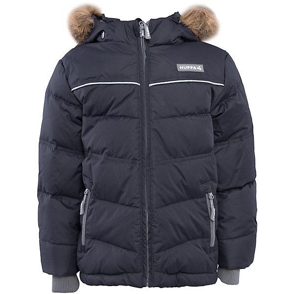 Куртка Huppa Moody для мальчикаЗимние куртки<br>Характеристики товара:<br><br>• модель: Moody;<br>• цвет: серый;<br>• состав: 100% полиэстер; <br>• подкладка: 100% полиэстер, тафта;<br>• утеплитель: 50% пух, 50% перо;<br>• сезон: зима;<br>• температурный режим: от -5 до - 30С;<br>• особенности модели: с мехом на капюшоне, пуховик;<br>• трикотажные манжеты;<br>• безопасный съемный капюшон на кнопках;<br>• искусственный мех на капюшоне не съемный;<br>• защита подбородка от защемления;<br>• светоотражающие элементы для безопасности ребенка;<br>• страна бренда: Эстония;<br>• страна изготовитель: Эстония.<br><br>Зимняя куртка-пуховик с капюшоном. Очень теплая и отвечает всем требованиям качества. Плотная мембрана не даст холодному воздуху и воде попасть под одежду и поможет вывести лишнюю влагу. Куртка застегивается на молнию, имеет светоотражающие полоски, вместительные карманы и большой капюшон. Отдельные вязаные манжеты предотвратят попадание снега внутрь.<br><br>Куртку Moody от бренда Huppa (Хуппа) можно купить в нашем интернет-магазине.<br>Ширина мм: 356; Глубина мм: 10; Высота мм: 245; Вес г: 519; Цвет: серый; Возраст от месяцев: 60; Возраст до месяцев: 72; Пол: Мужской; Возраст: Детский; Размер: 116,158,152,146,140,134,128,122,110,104,98; SKU: 4928191;