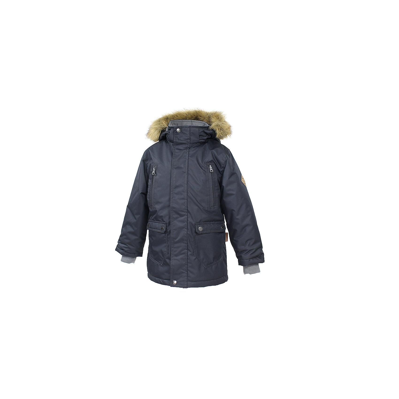 Куртка   для мальчика HuppaСтильная куртка-парка VESPER Huppa(Хуппа).<br><br>Утеплитель: 100% полиэстер, 300 гр.<br><br>Температурный режим: до -30 градусов. Степень утепления – высокая. <br><br>* Температурный режим указан приблизительно — необходимо, прежде всего, ориентироваться на ощущения ребенка. Температурный режим работает в случае соблюдения правила многослойности – использования флисовой поддевы и термобелья.<br><br>Очень теплая и водонепроницаемая. Отличный выбор для долгих зимних прогулок!<br><br>Особенности:<br>-водоотталкивающая мембрана выводит лишнюю влагу<br>-утеплитель HuppaTherm прекрасно сохраняет объем, легко стирается и быстро высыхает <br>-проклеенные водостойкой лентой швы, обеспечат максимальную водонепроницаемость<br>-светоотражающие элементы уменьшают вероятность несчастных случаев в темное время суток<br>-капюшон с отстегивающимся мехом<br><br>Дополнительная информация:<br>Материал: 100% полиэстер<br>Подкладка: тафта, pritex - 100% полиэстер<br>Цвет: черный<br><br>Куртку VESPER Huppa(Хуппа) вы можете купить в нашем интернет-магазине.<br><br>Ширина мм: 356<br>Глубина мм: 10<br>Высота мм: 245<br>Вес г: 519<br>Цвет: серый<br>Возраст от месяцев: 36<br>Возраст до месяцев: 48<br>Пол: Мужской<br>Возраст: Детский<br>Размер: 104,170,110,116,122,128,134,140,146,152,158,164<br>SKU: 4928215